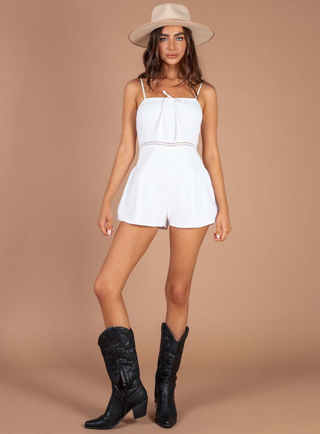 Kelilah Playsuit White