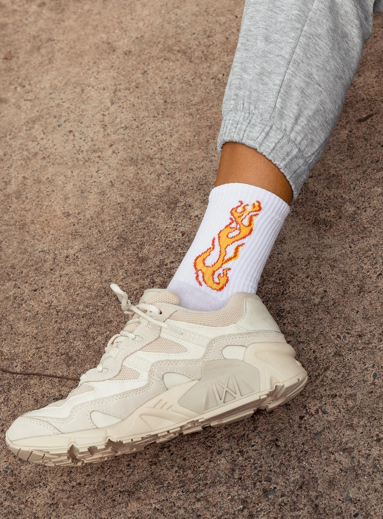 The Harli Socks White / Orange