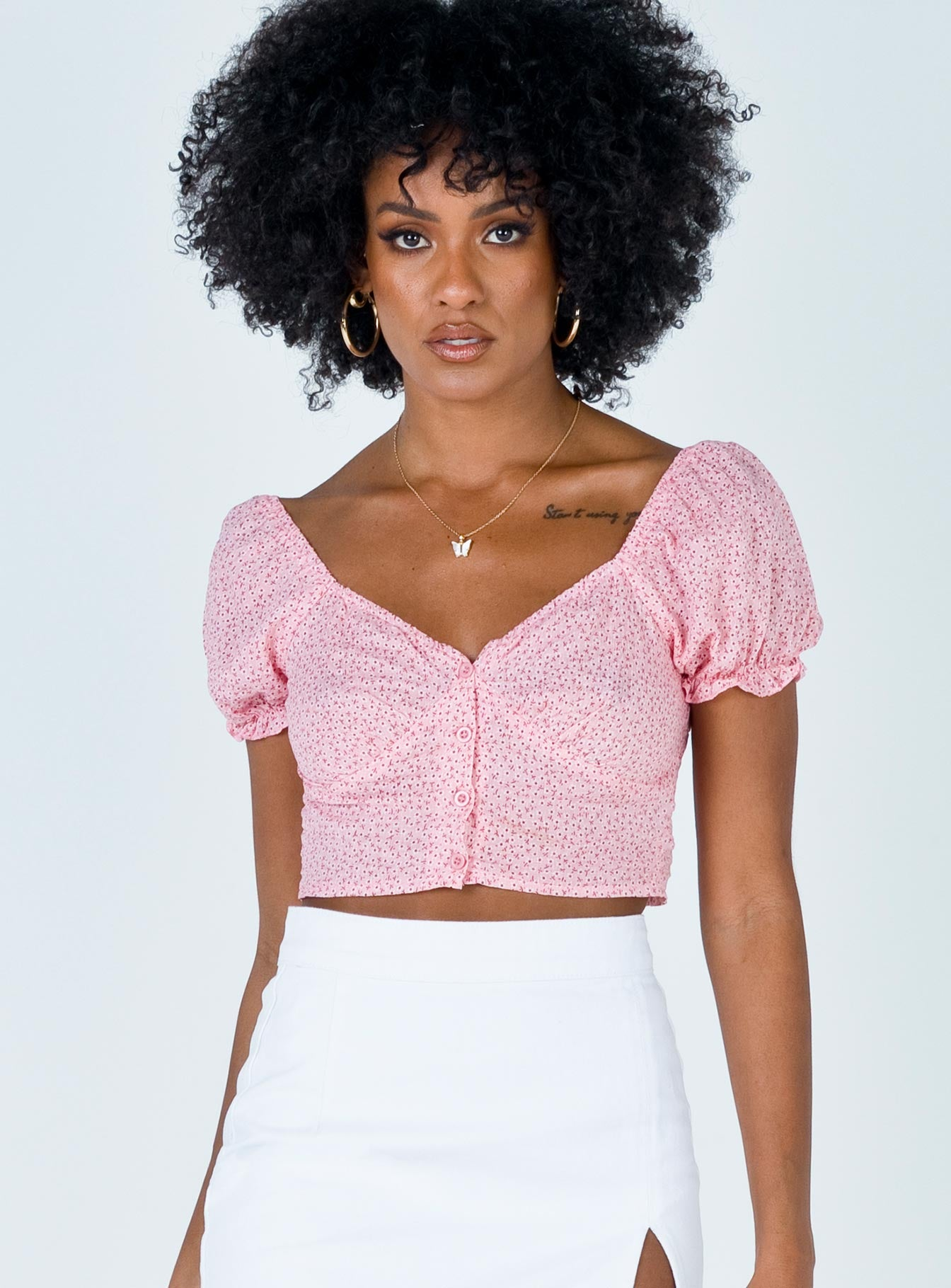 The Laura Top Pink