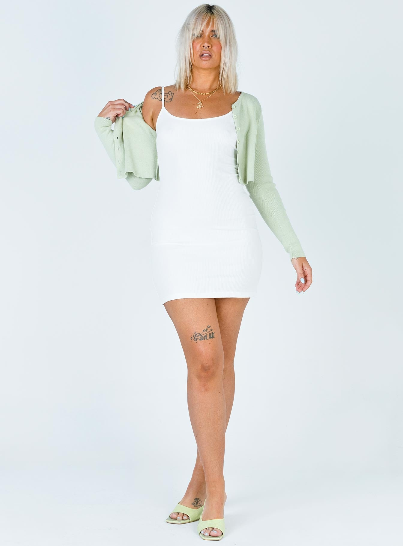 Riley Mini Dress White