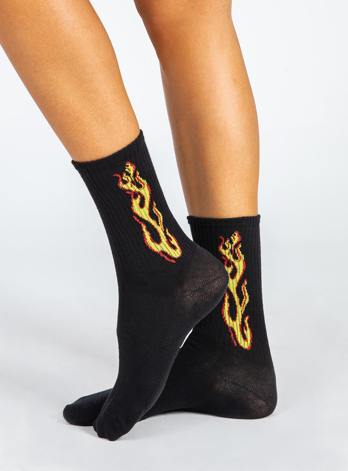 The Harli Socks Black / Orange