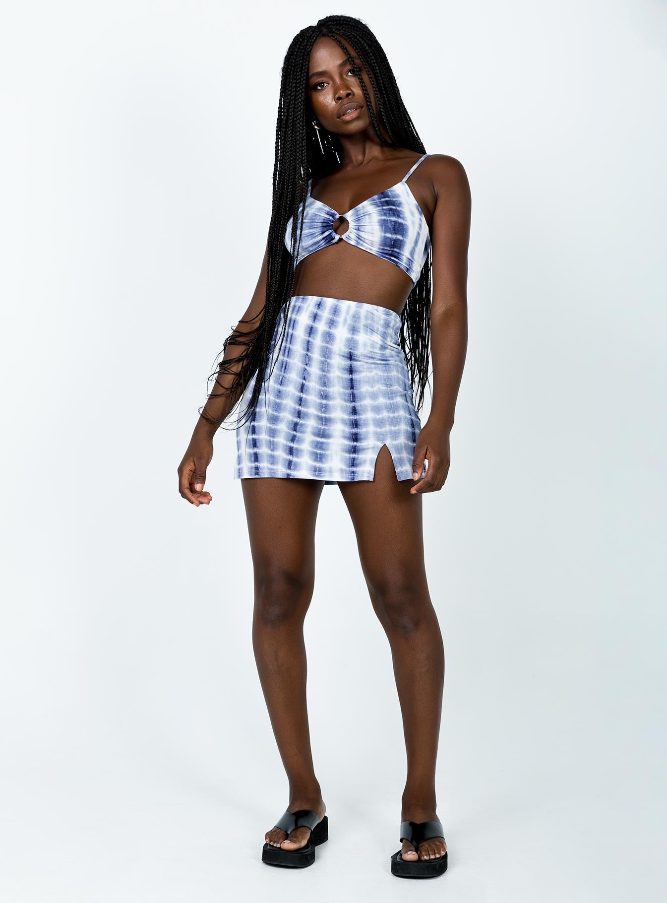 Willow Tie Dye Set Blue