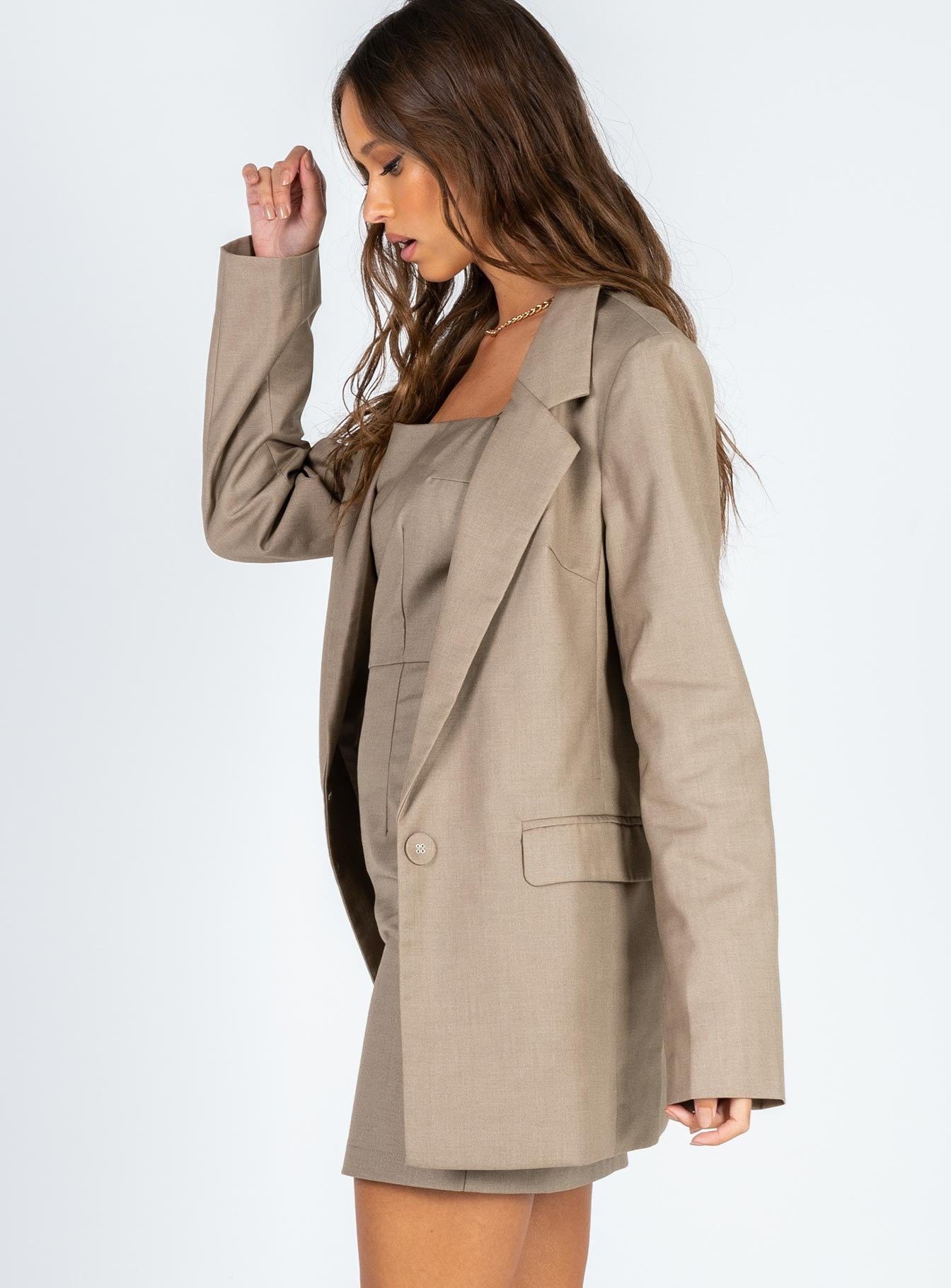 The West Village Blazer Beige