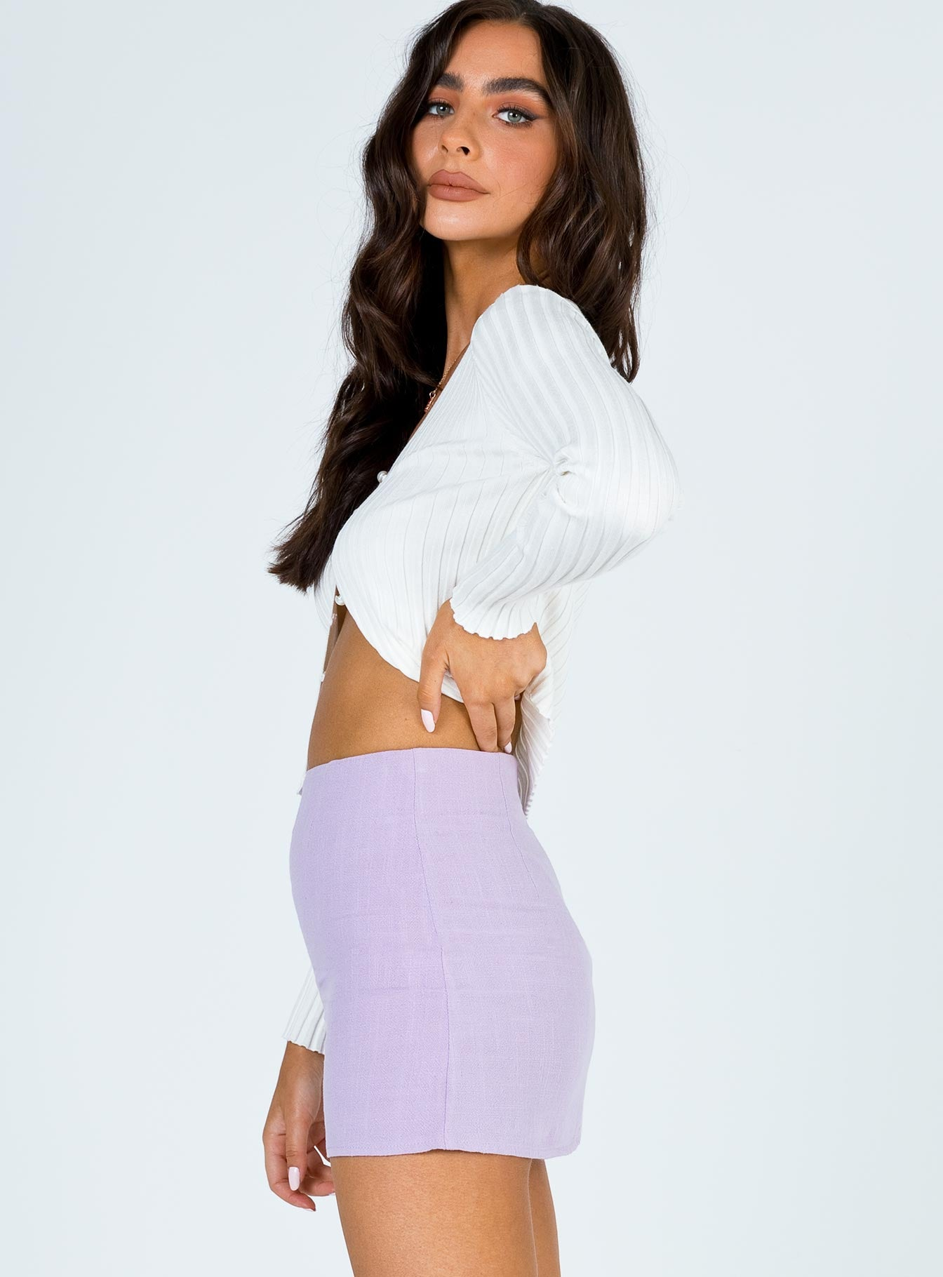 Selby Mini Skirt Lilac