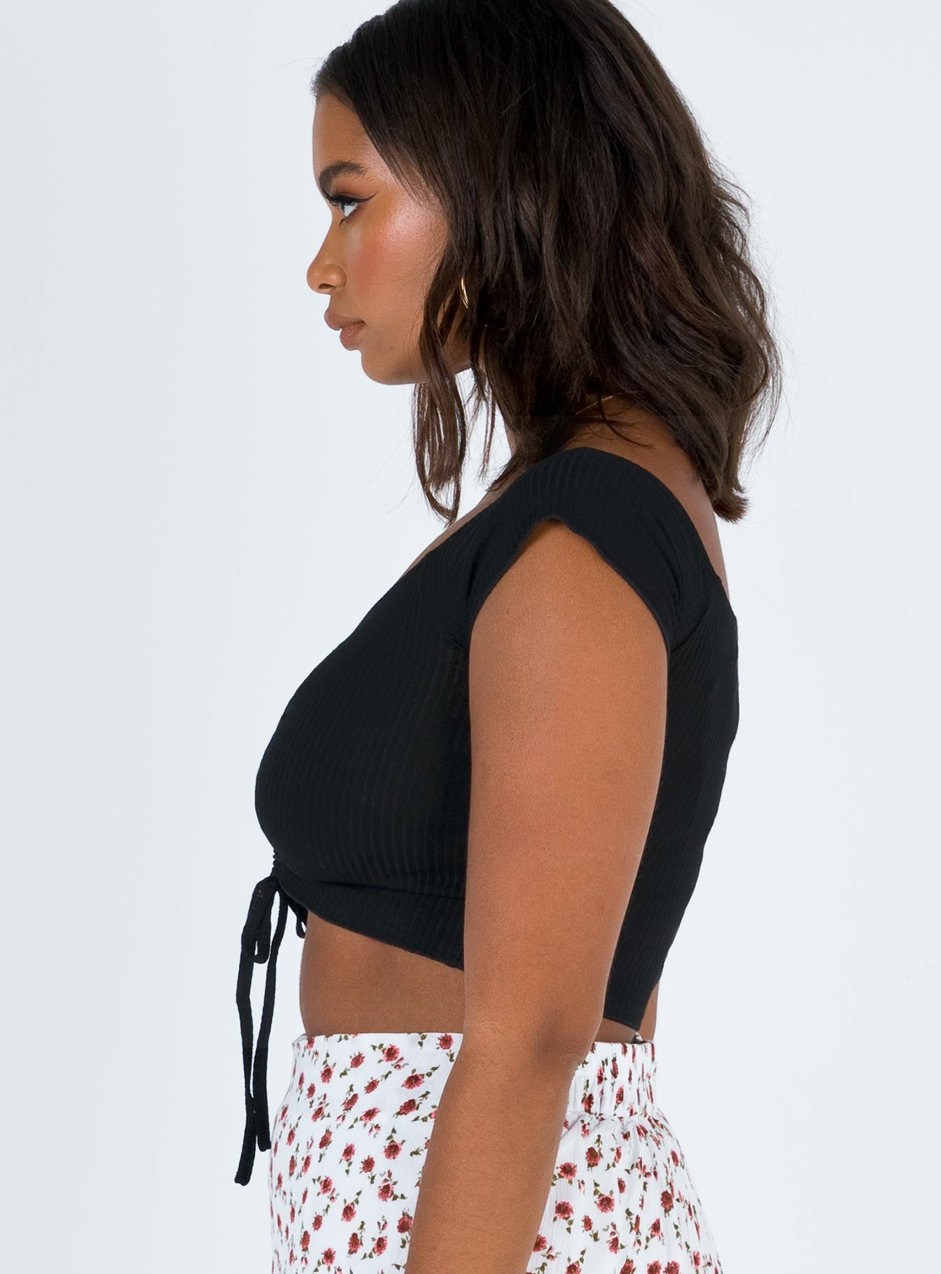 Kaison Off The Shoulder Top Black