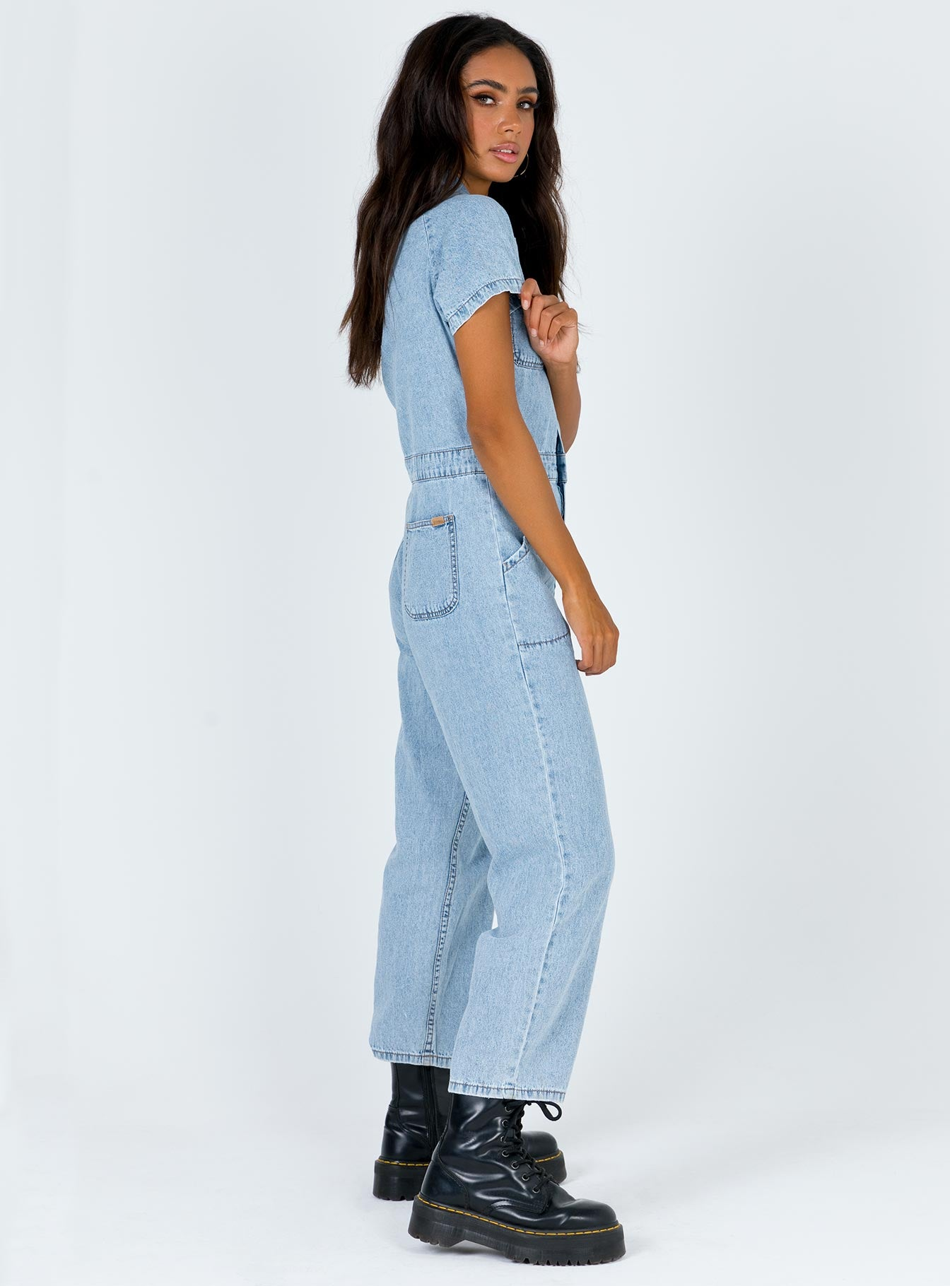 Thrills Tab Jumpsuit Light Thrift Blue
