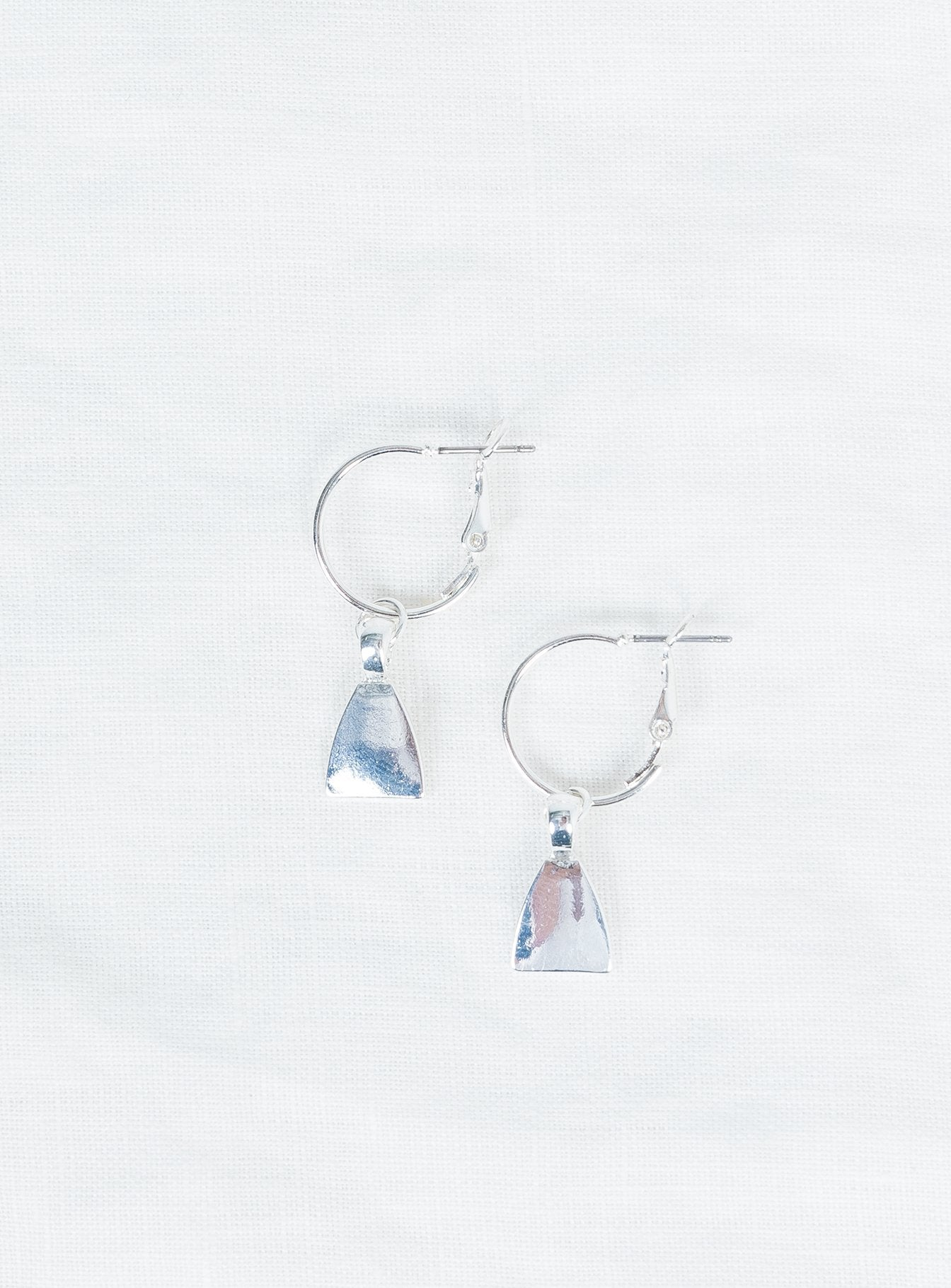 Minc Collections Dream Charm Hoops Silver