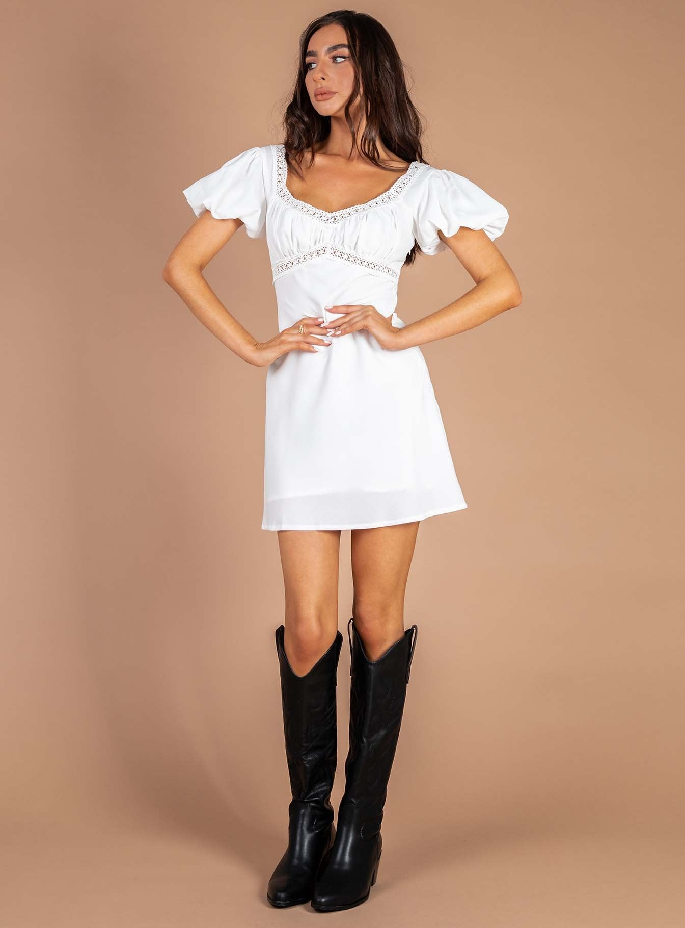 Zariah Mini Dress White