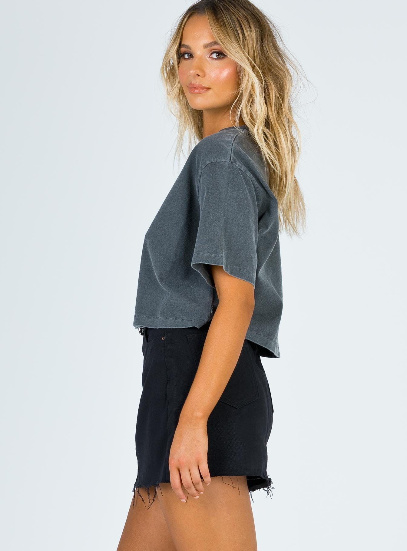 Hallie Denim Mini Skirt Black