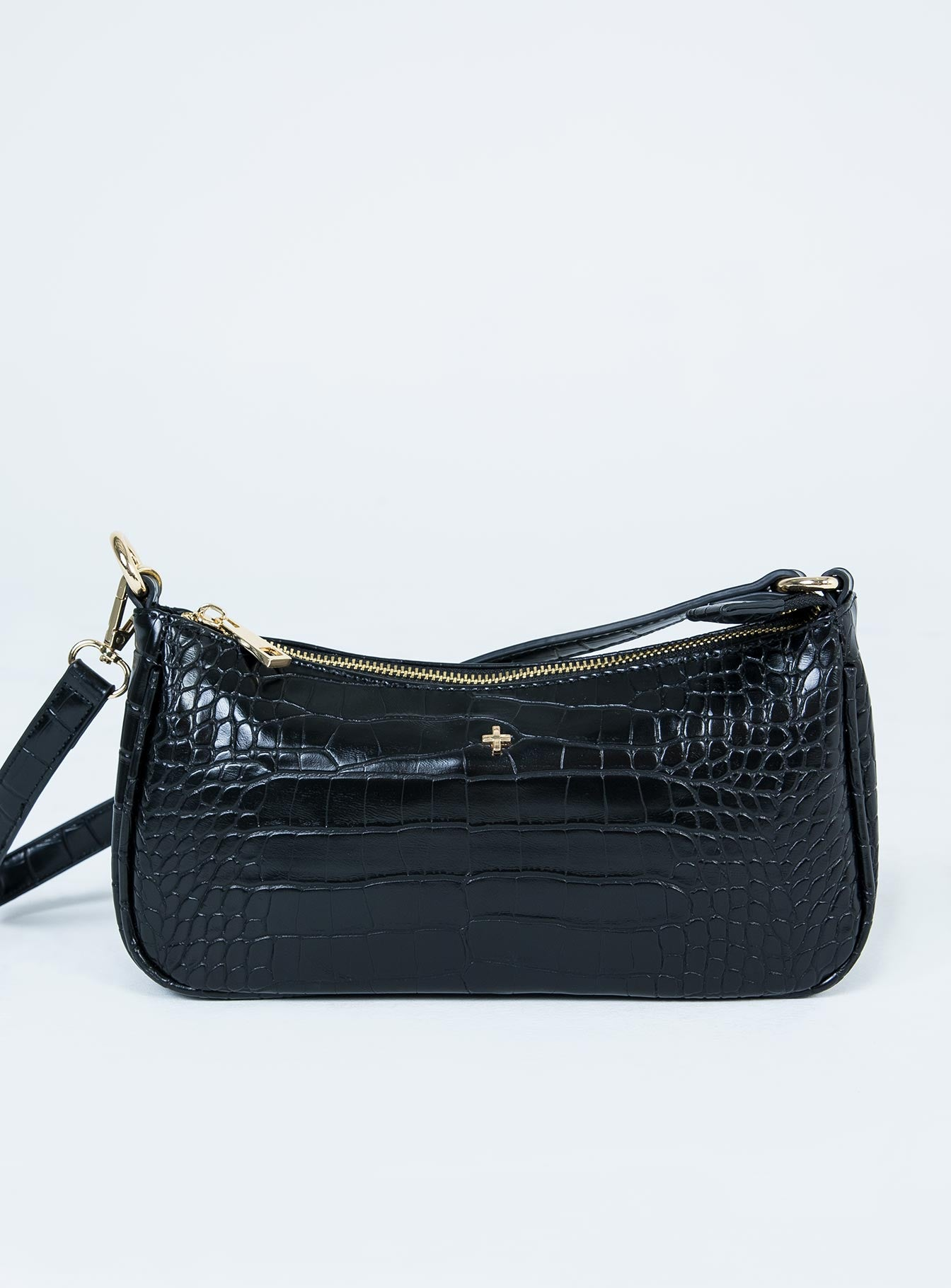 Peta & Jain Piper Bag Black Croc
