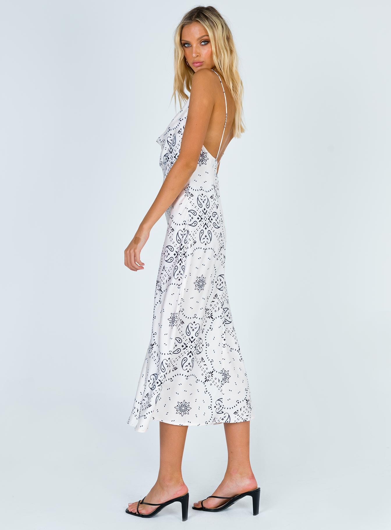 Walk The Line Midi Dress Cream