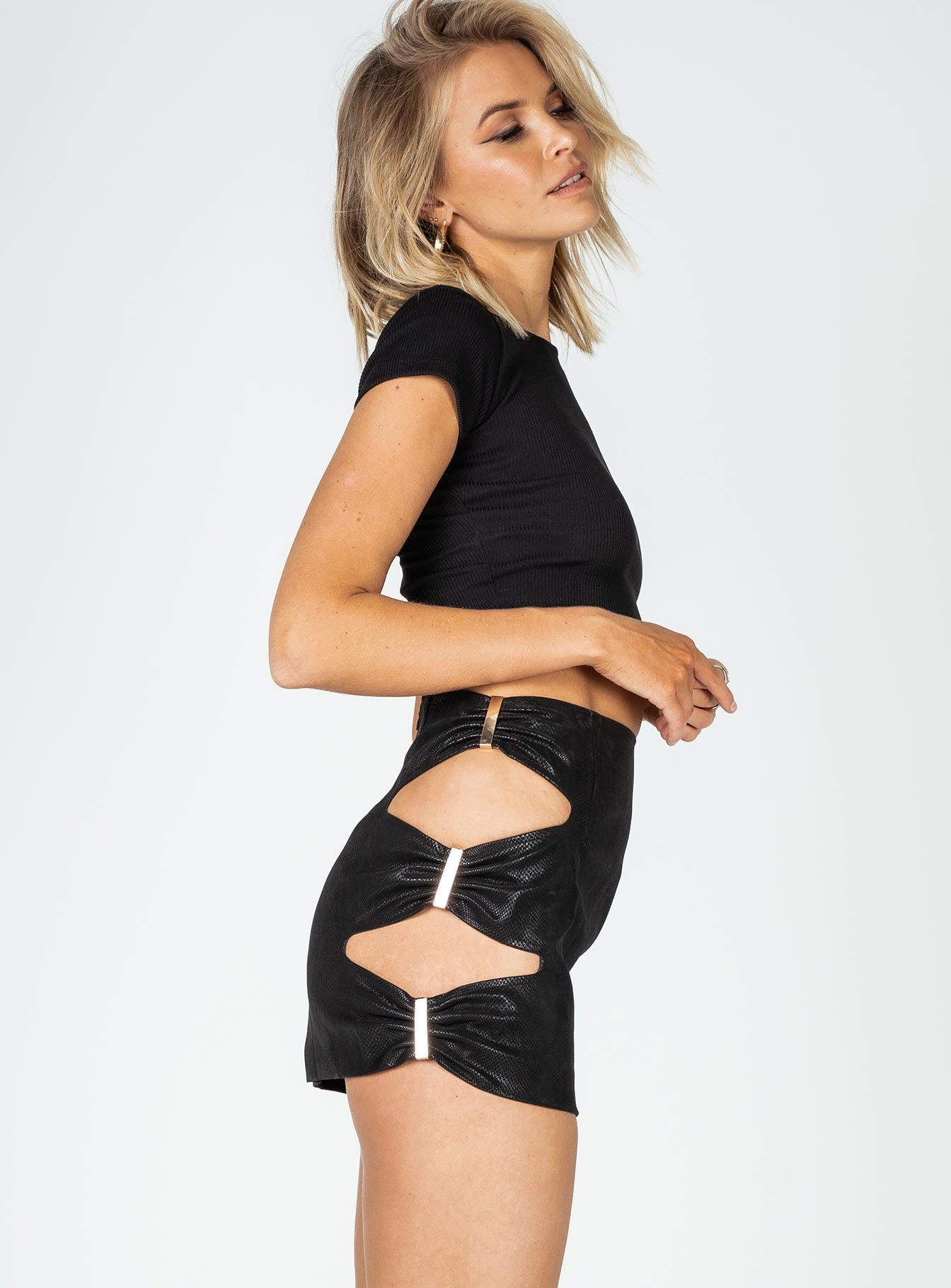 Sorry Not Sorry Mini Skirt Black