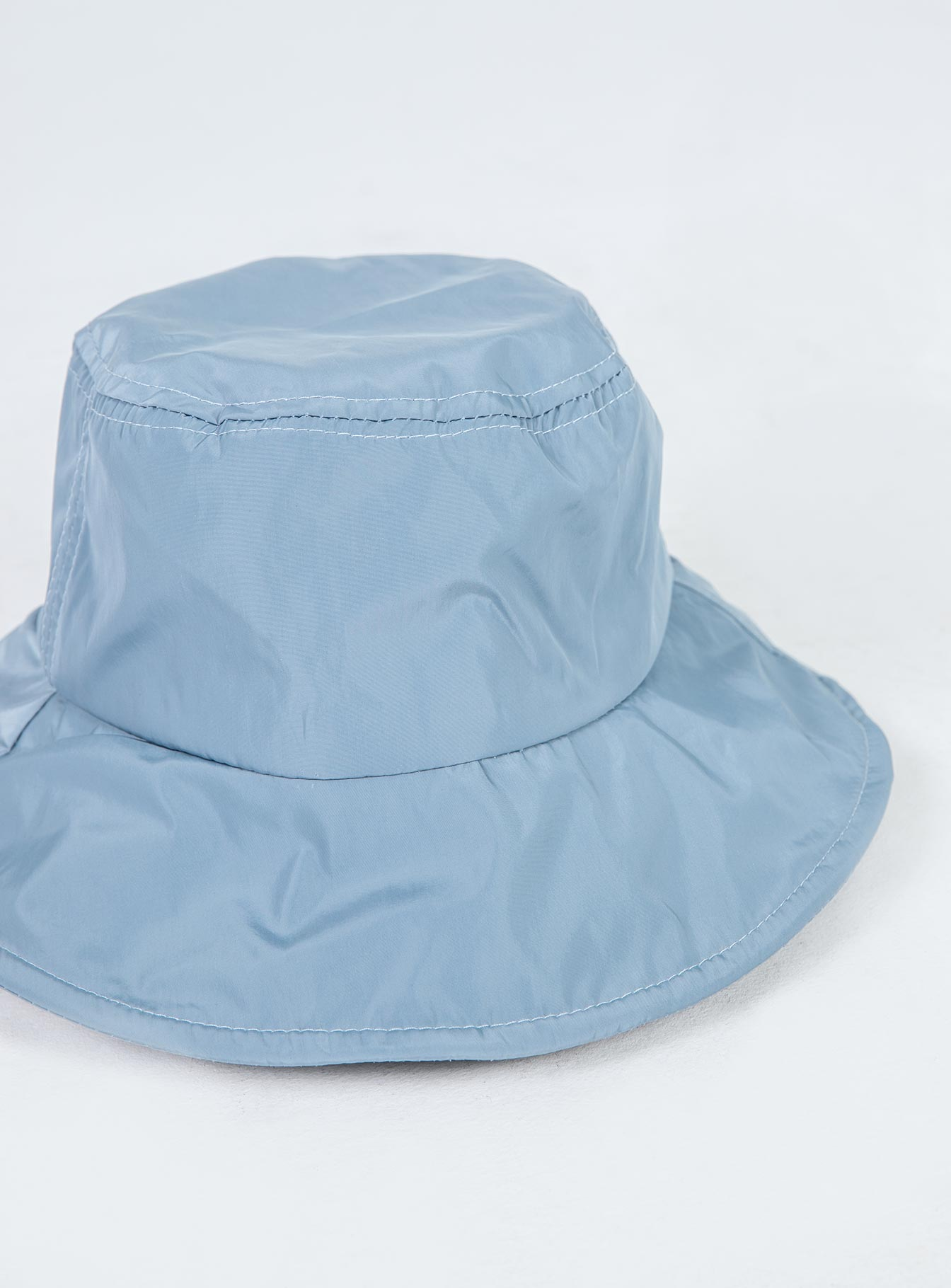 The Jessa Nylon Bucket Hat Blue