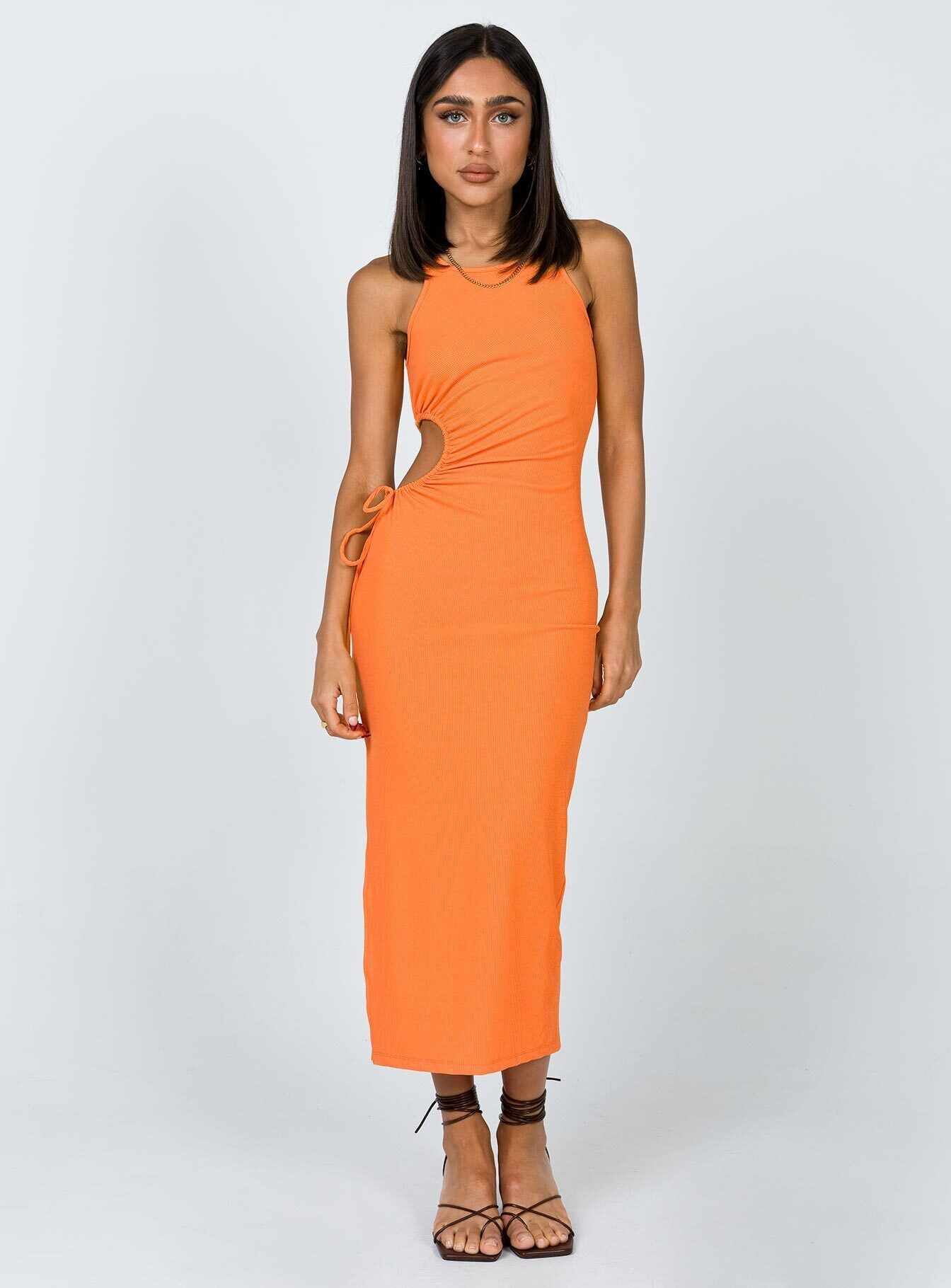 Louie Midi Dress Orange