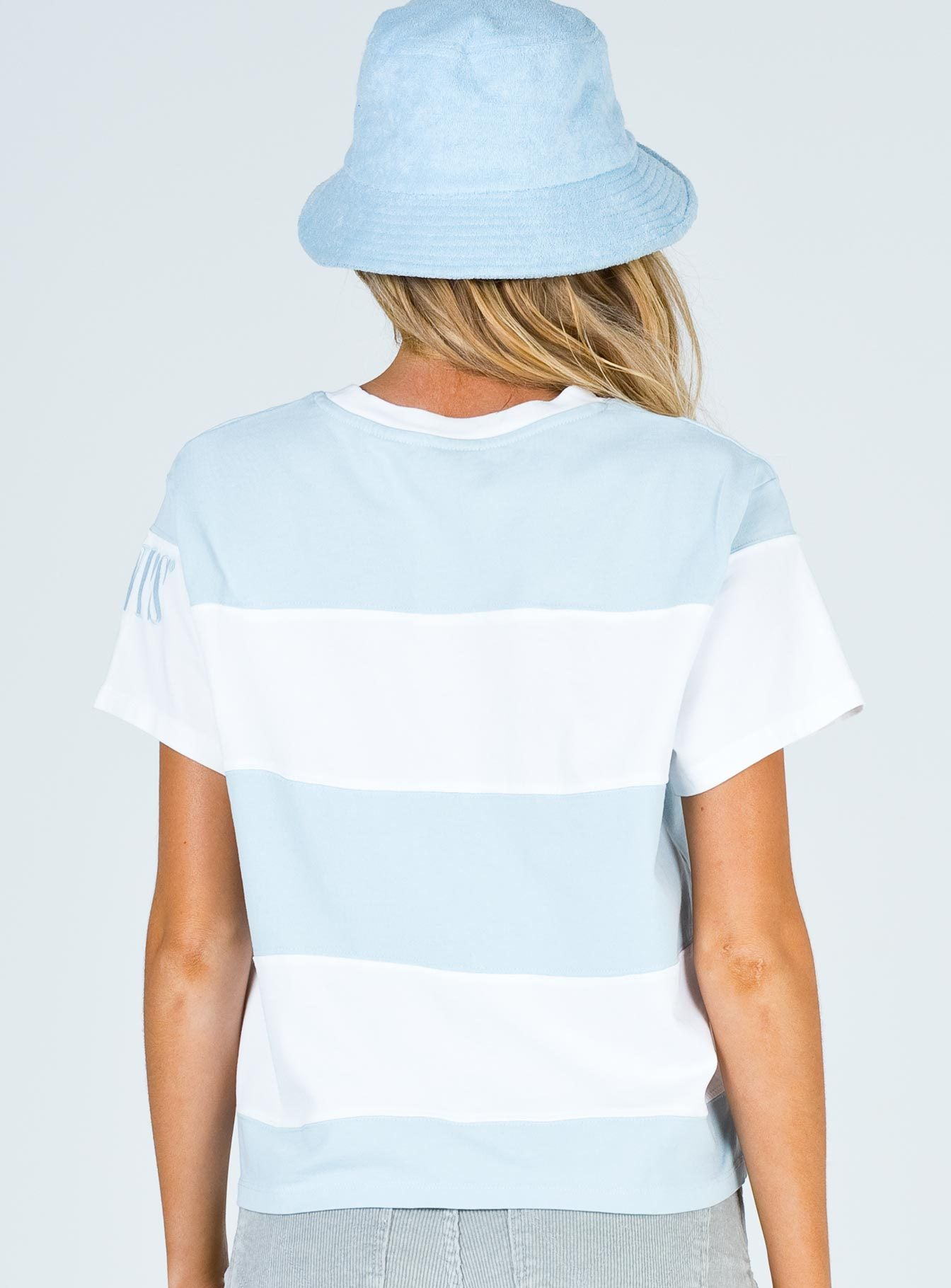 Levi's Rugby Stripe Tee Baby Blue