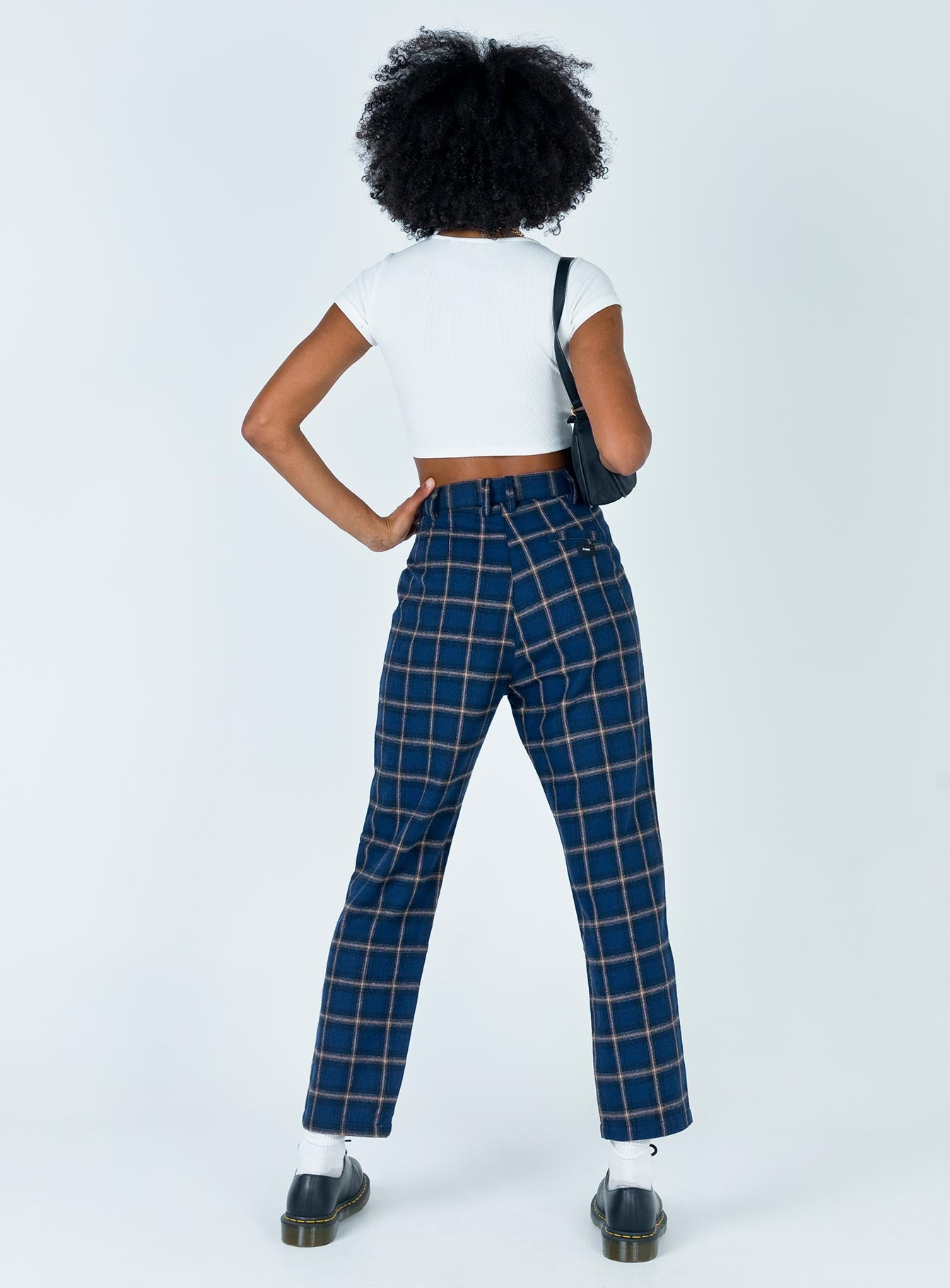 Thrills Camden Check Miller Pant Navy Plaid