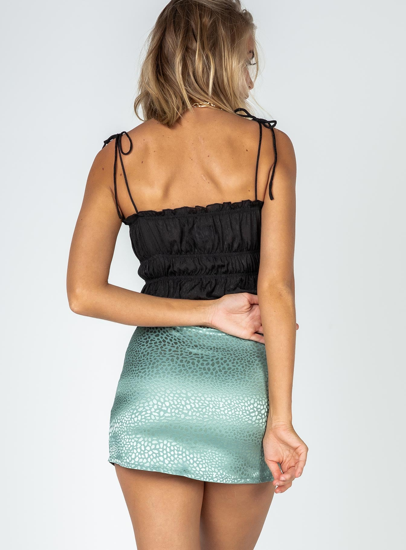 Alanis Mini Skirt Green