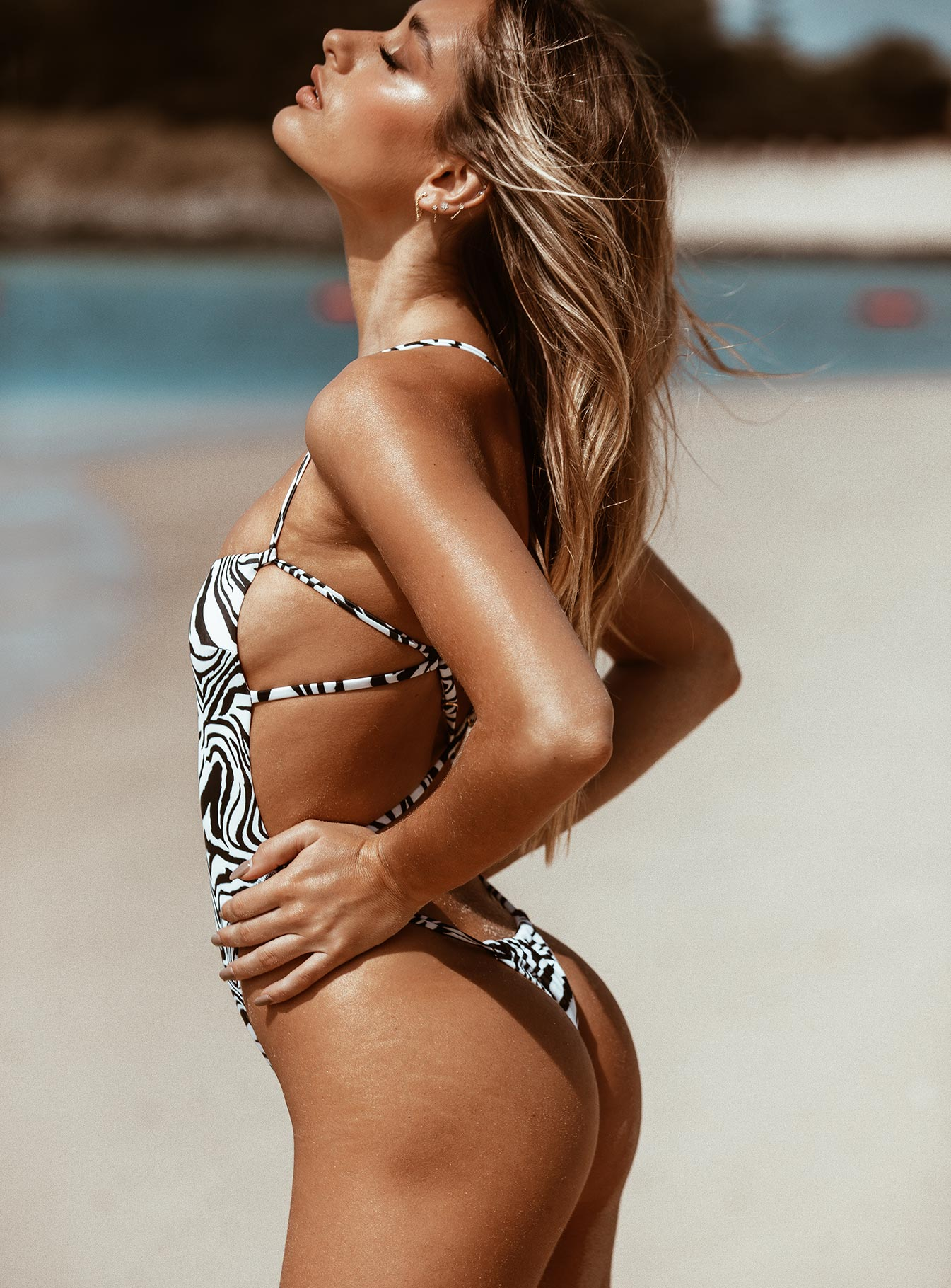 TWIIN Glitch Skimpy One Piece Black / White