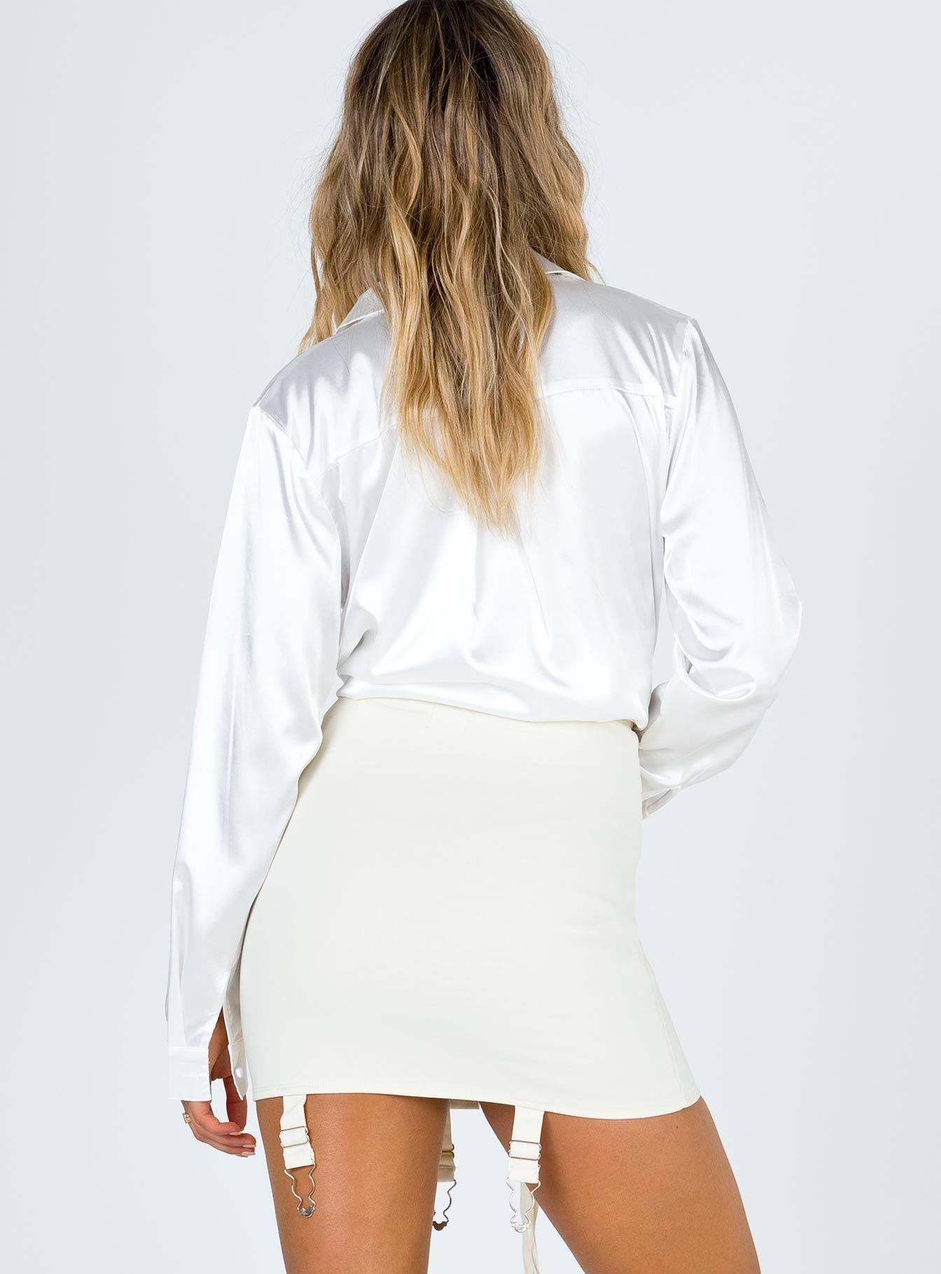 After Hours Mini Skirt White