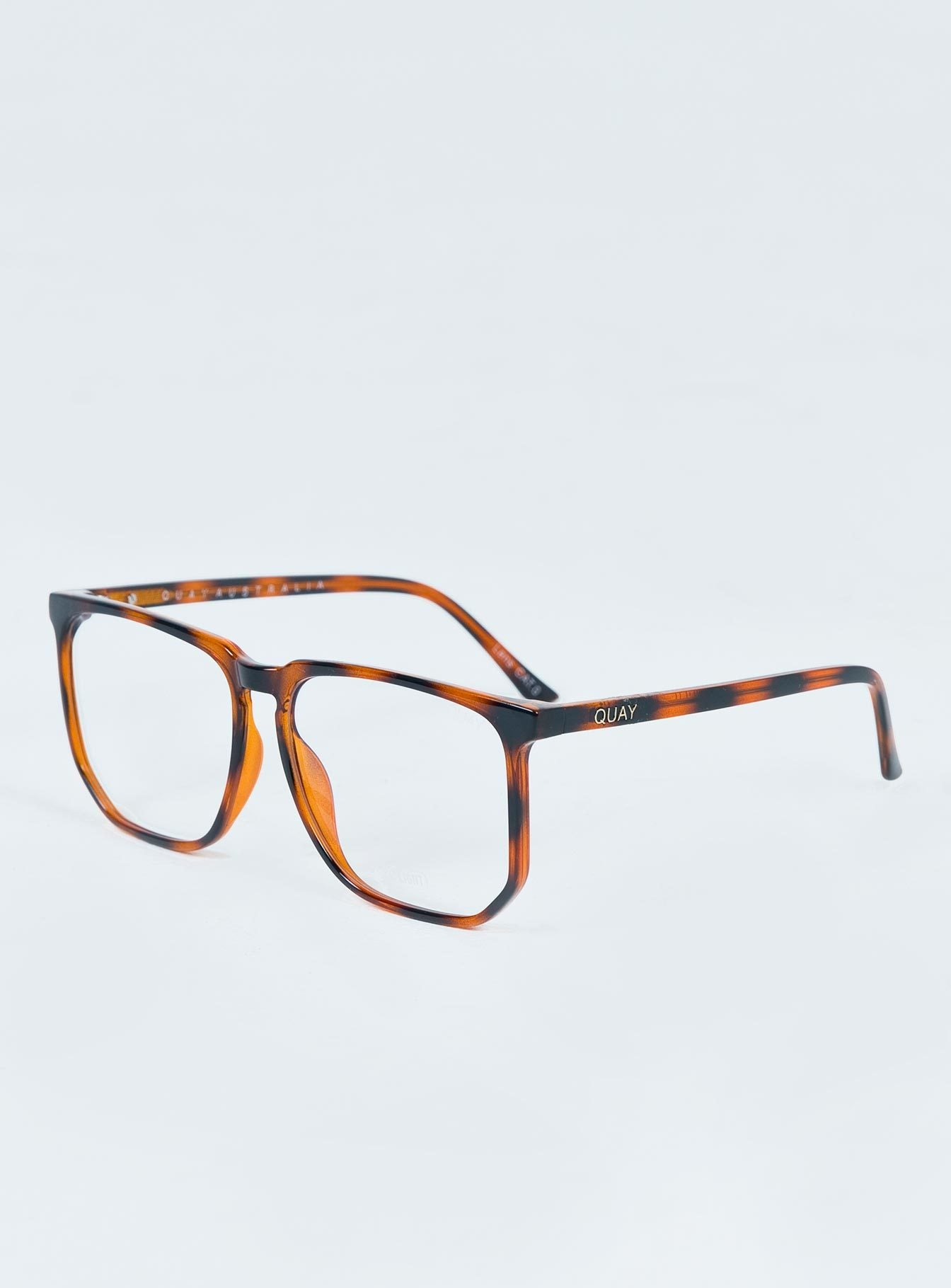 Quay Australia Stranger Blue Light Glasses Caramel Tort