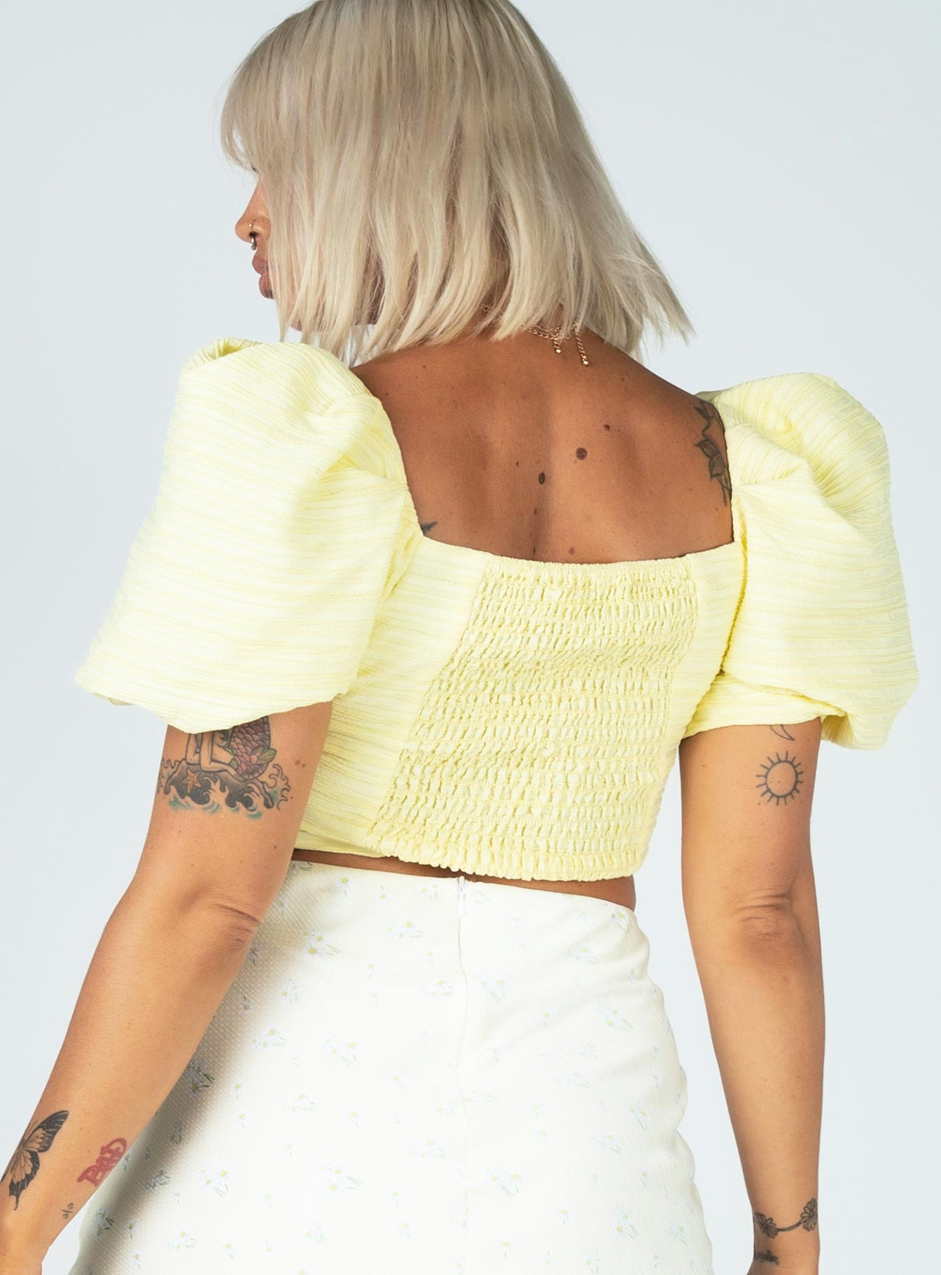 Piper Top Yellow