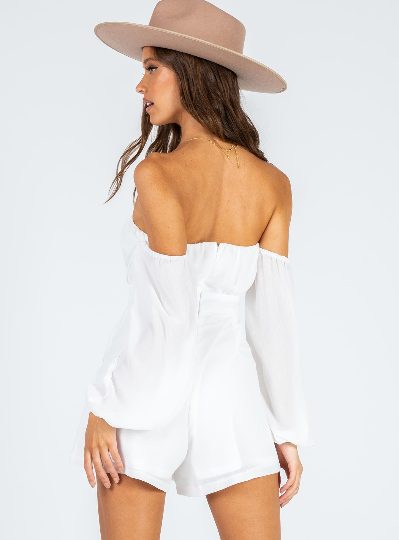 Lilliana Playsuit White