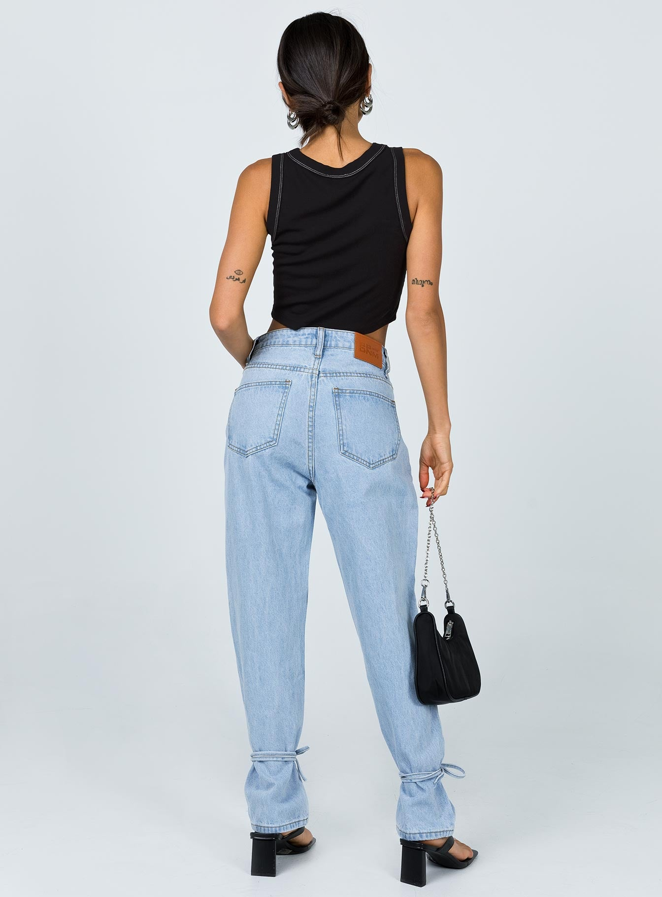 Connection Ankle Tie Denim Jeans