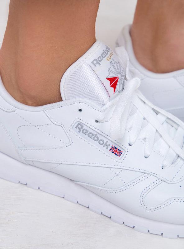 Reebok Womens Classic White Leather Trainers – Princess