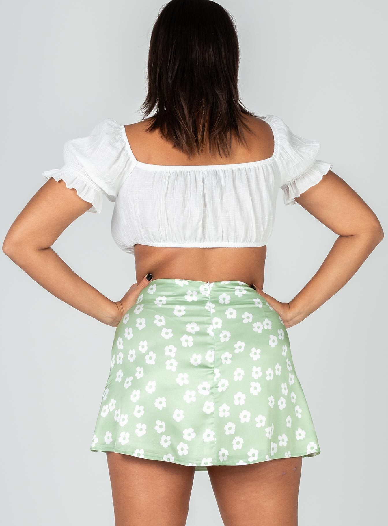 Olton Mini Skirt Green