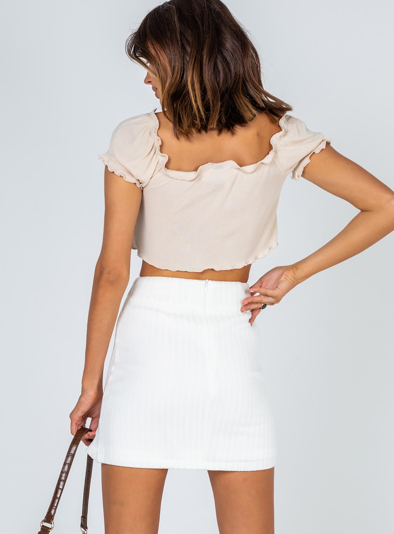 Human Movement Mini Skirt White