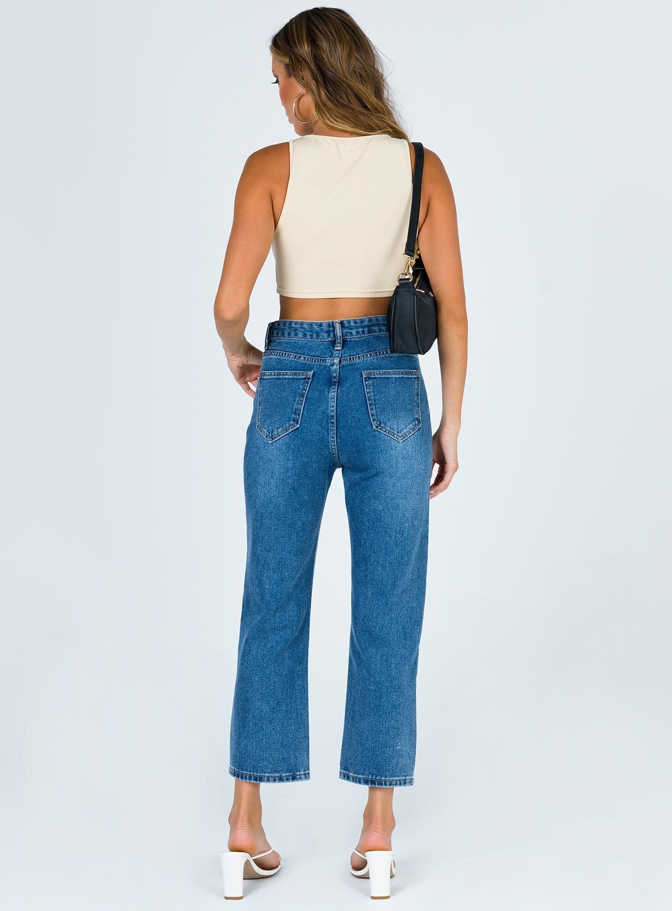Bronywn Cropped Jeans Denim