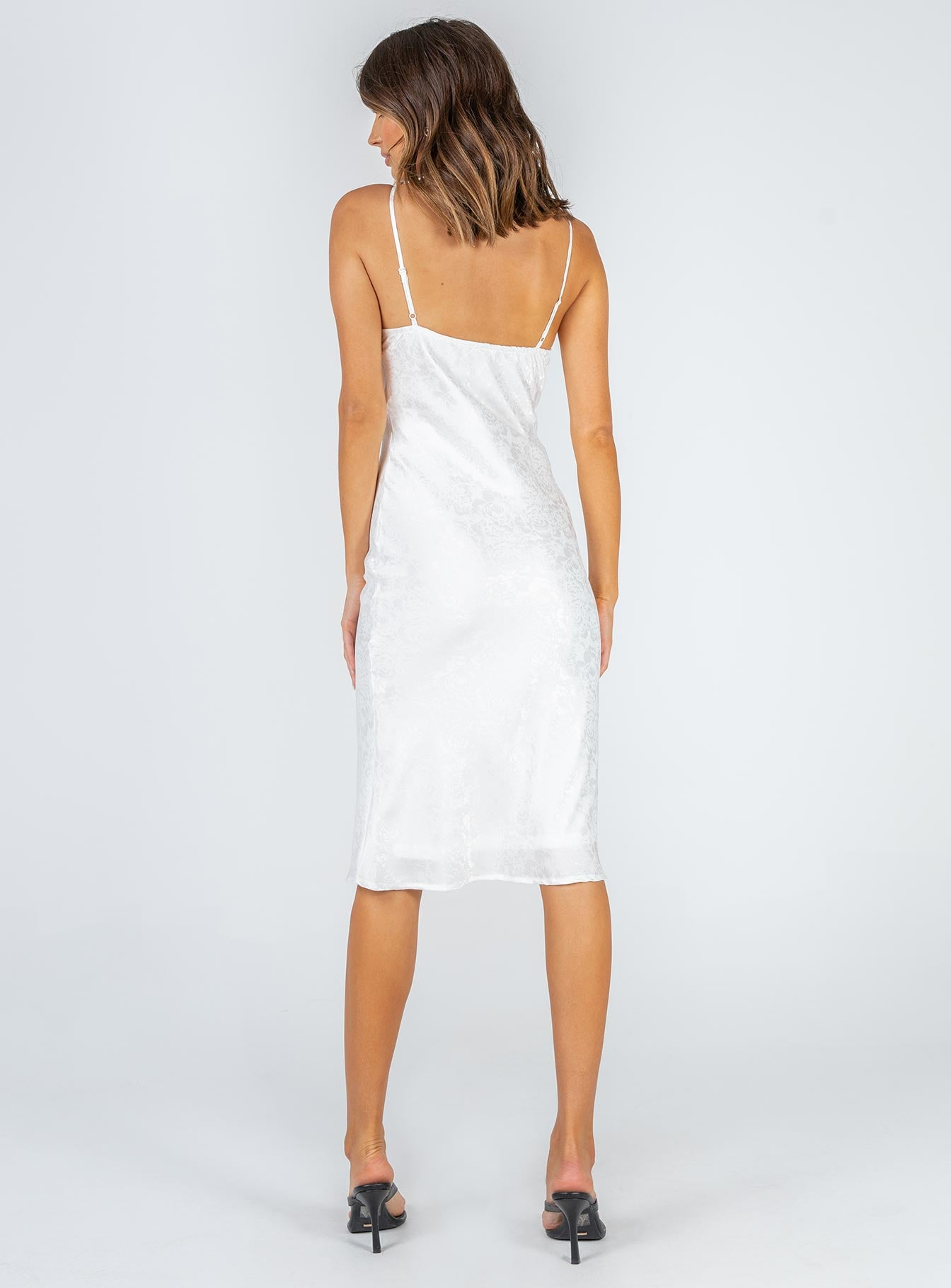 Audrie Midi Dress White