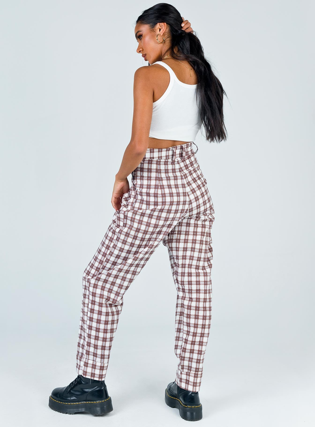 Motel Misca Trouser Checkmate Brown