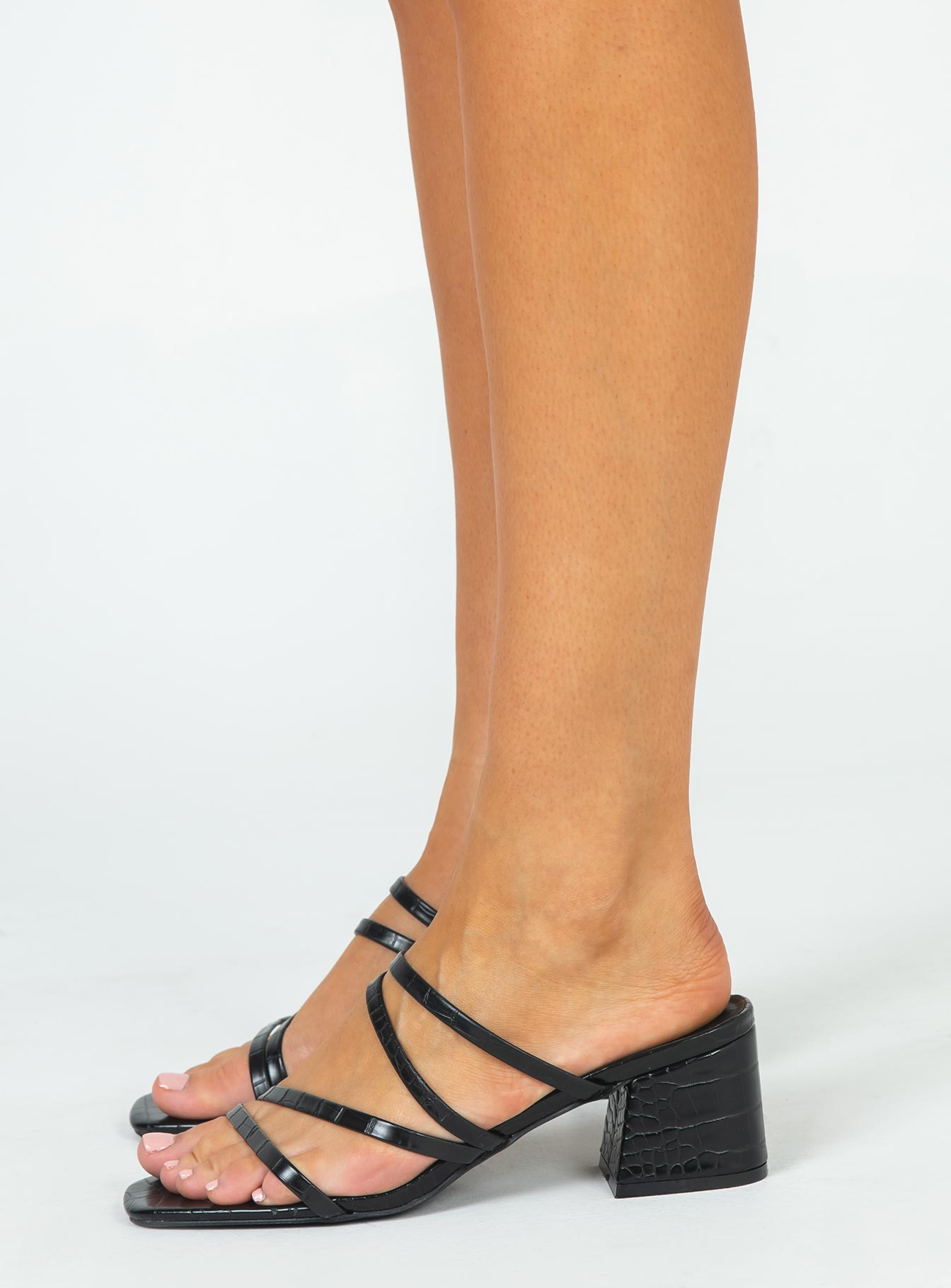 Therapy Bossy Heel Black Croc