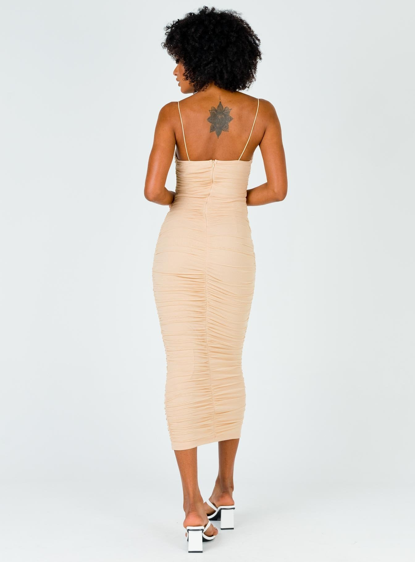 Robin Midi Dress Beige