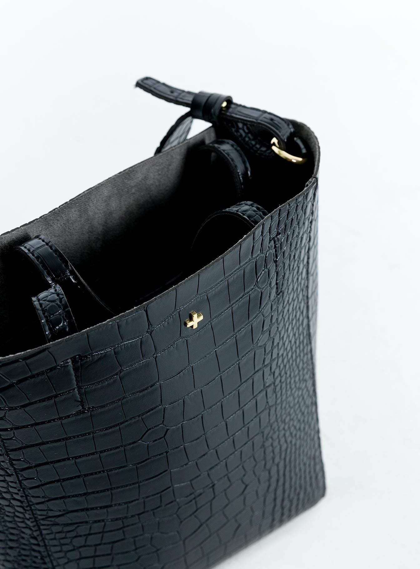 Peta & Jain Lottie Bag Black Croc