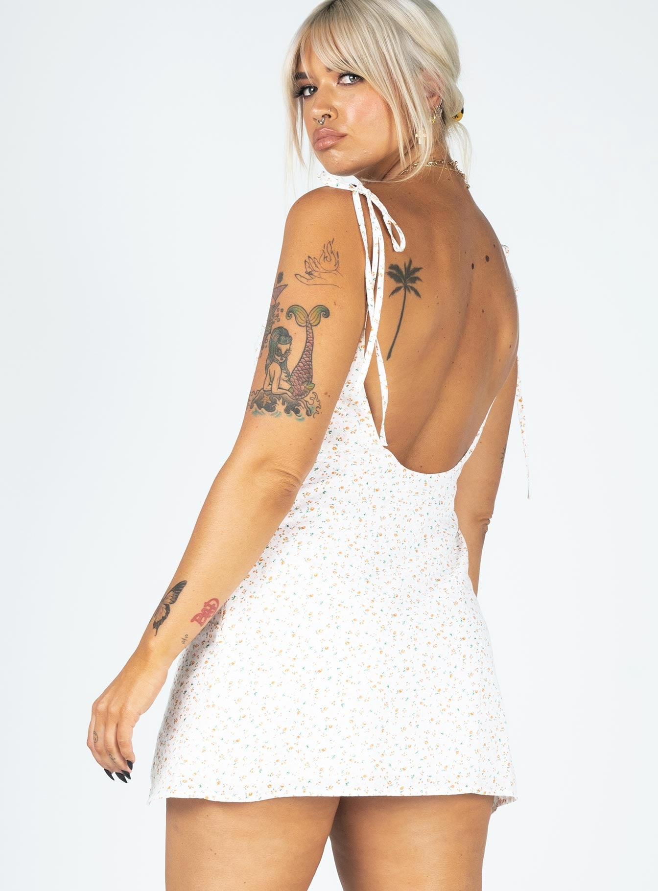 Relana Mini Dress White