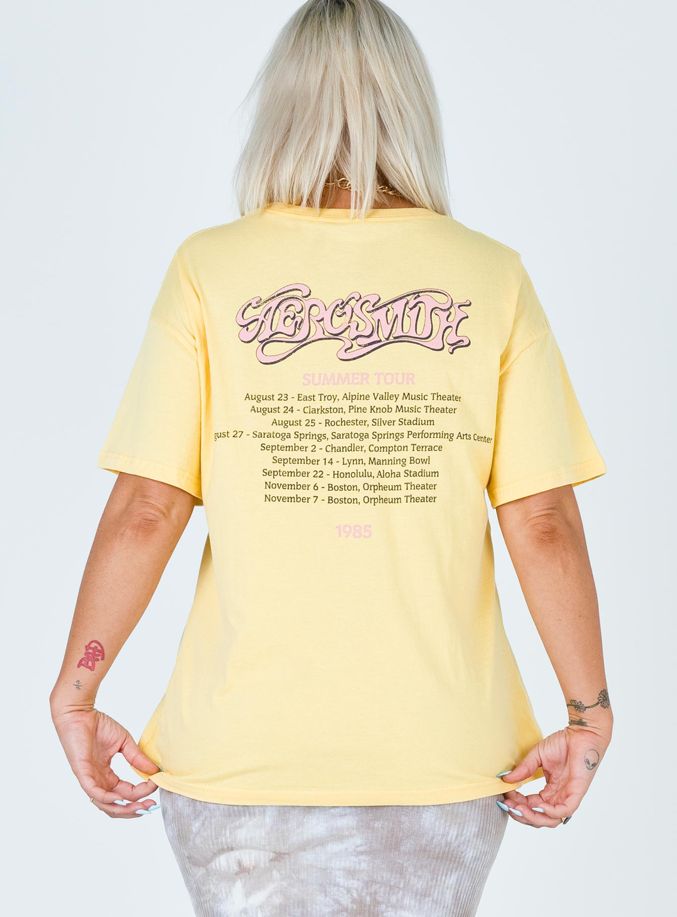 Aero Smith Summer Tour 1985 Tee Cream