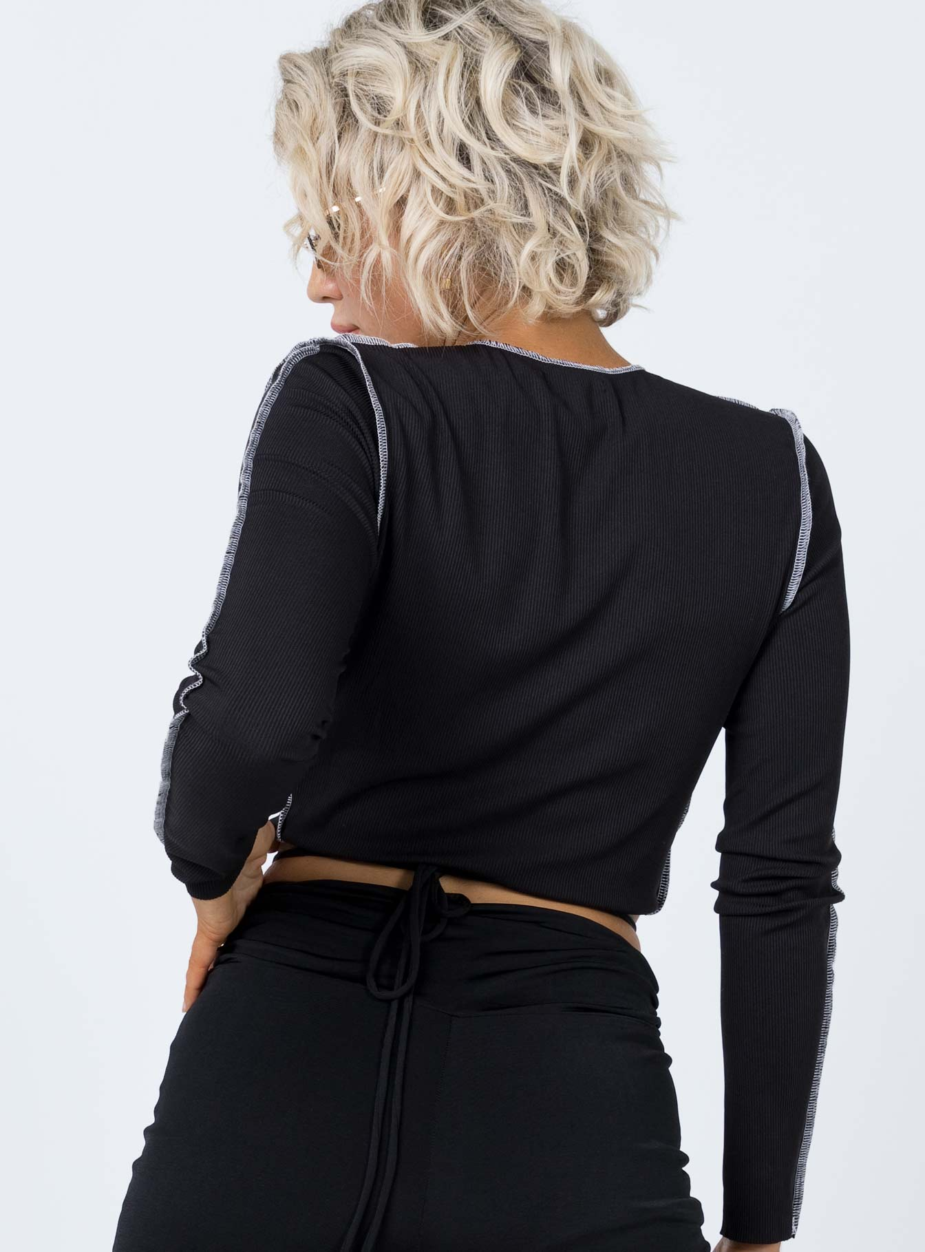 Azariah Long Sleeve Top Black