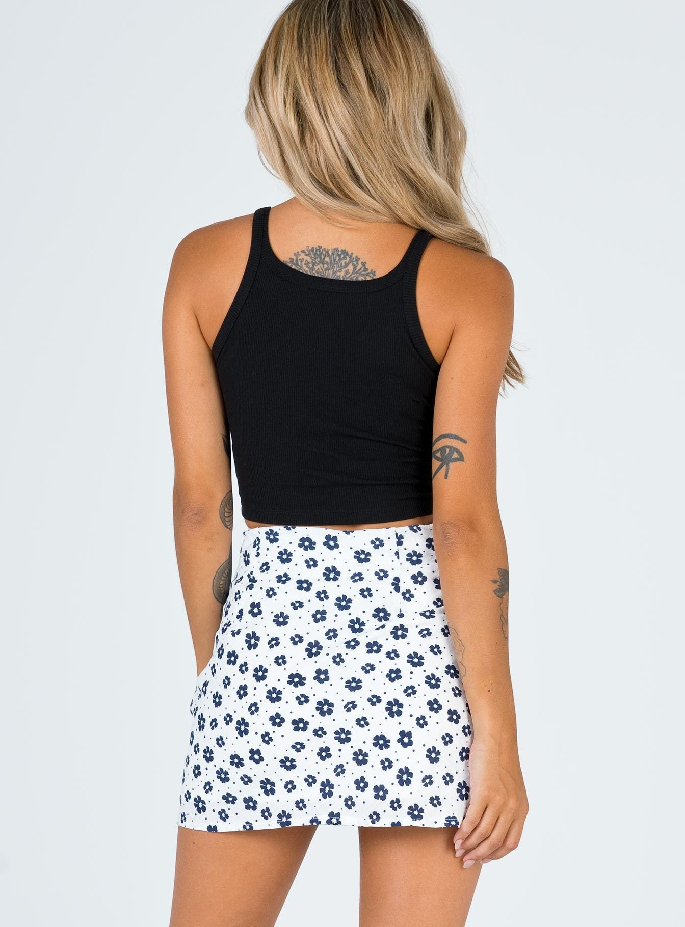 Maisy Hill Mini Skirt White