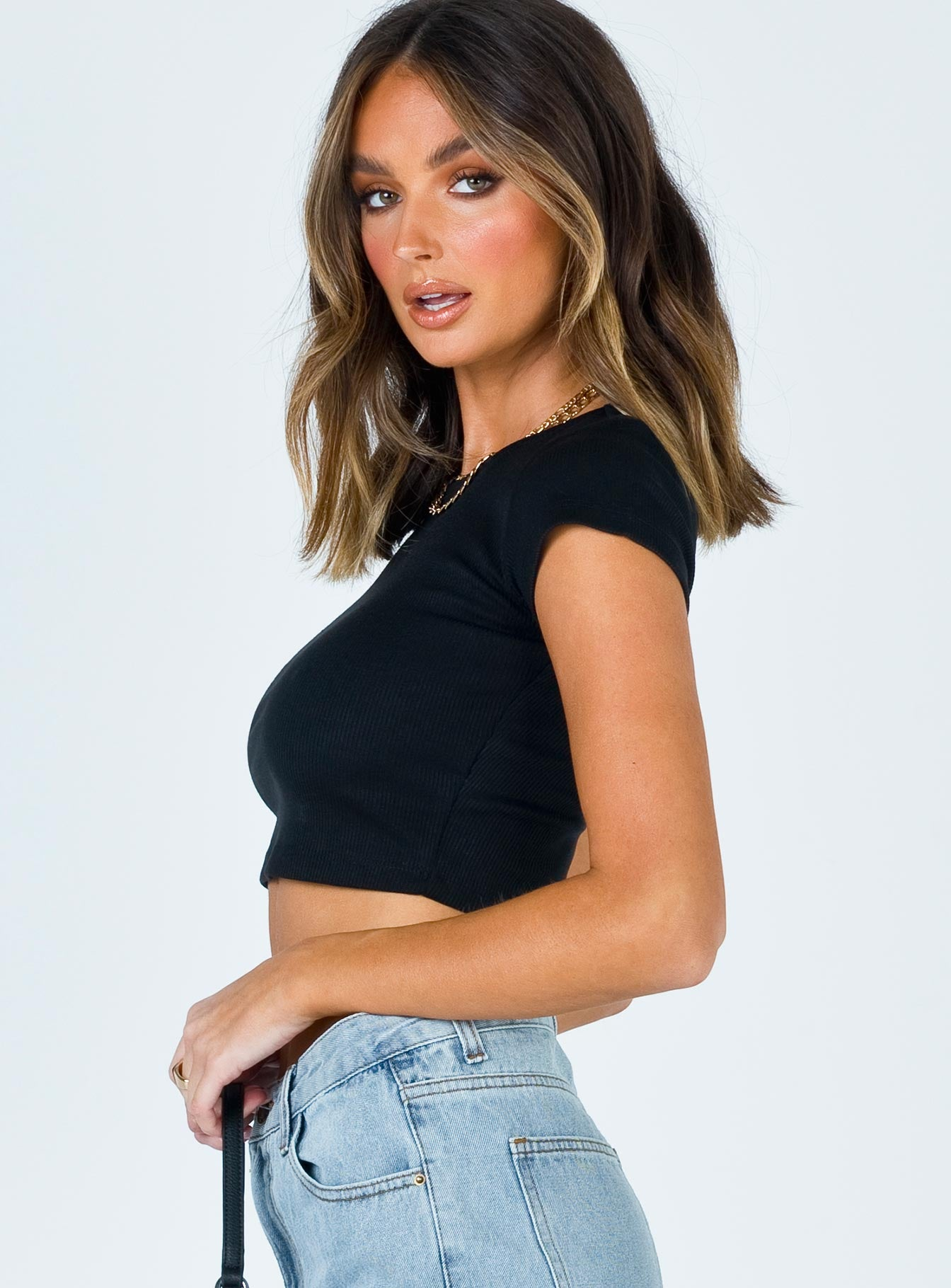 The Classic Cropped Tee Black