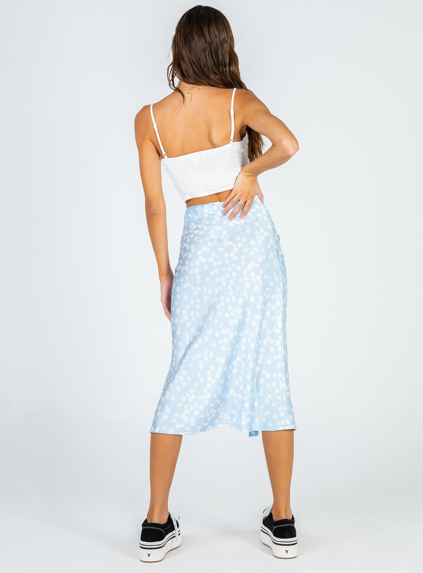 Alena Midi Skirt Blue