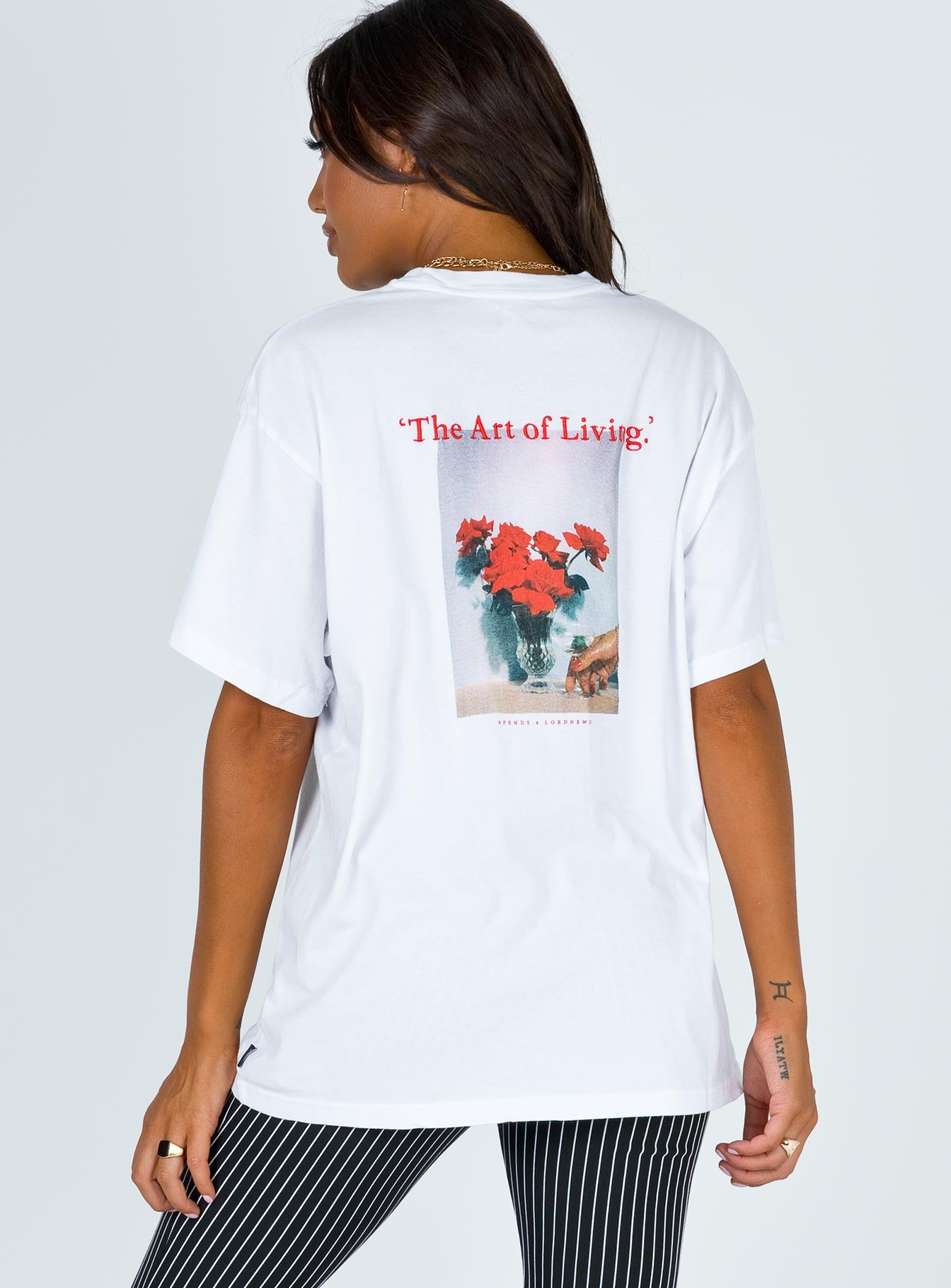 Afends Art Of Living Oversized Tee