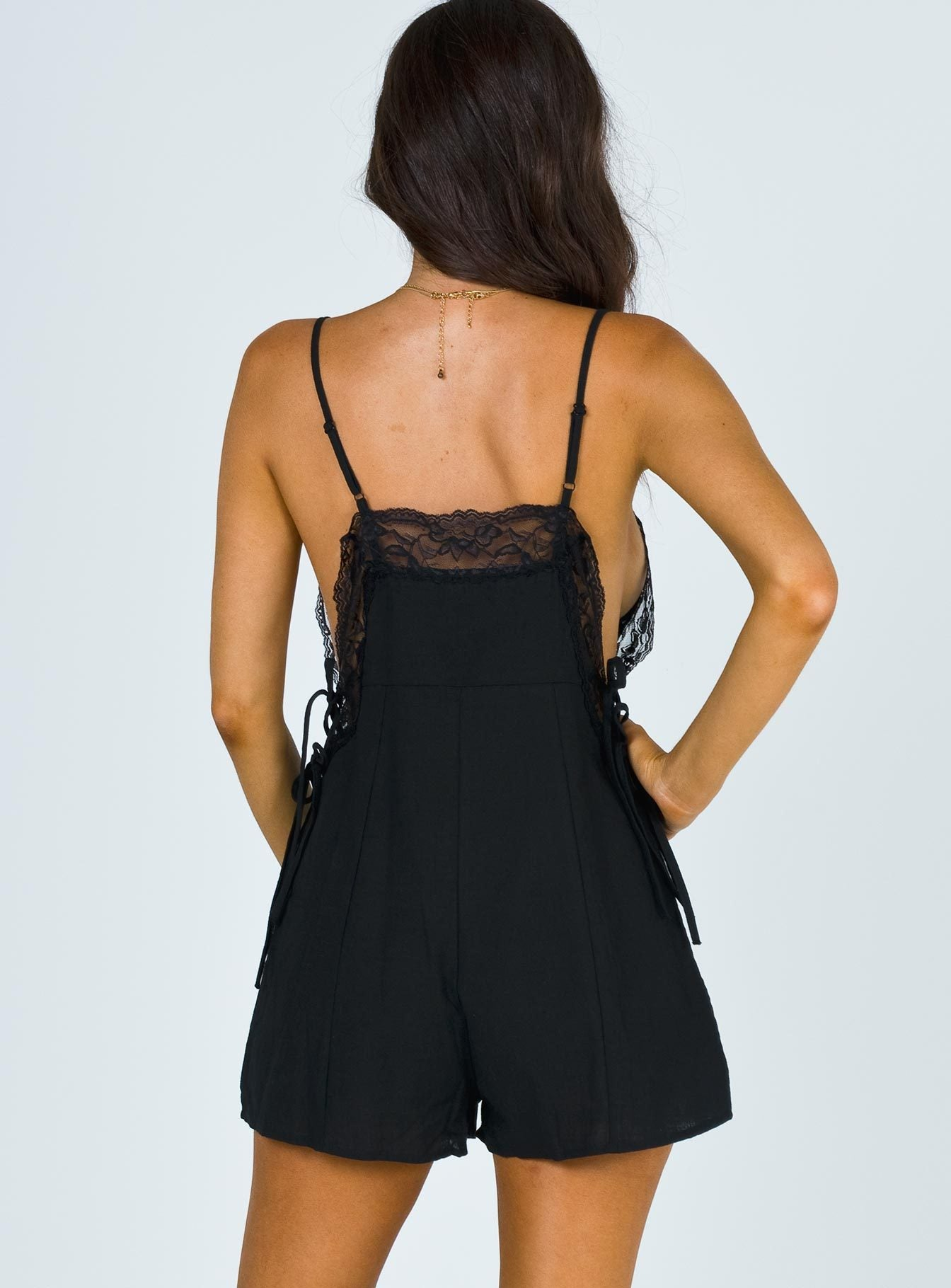 Menna Playsuit Black