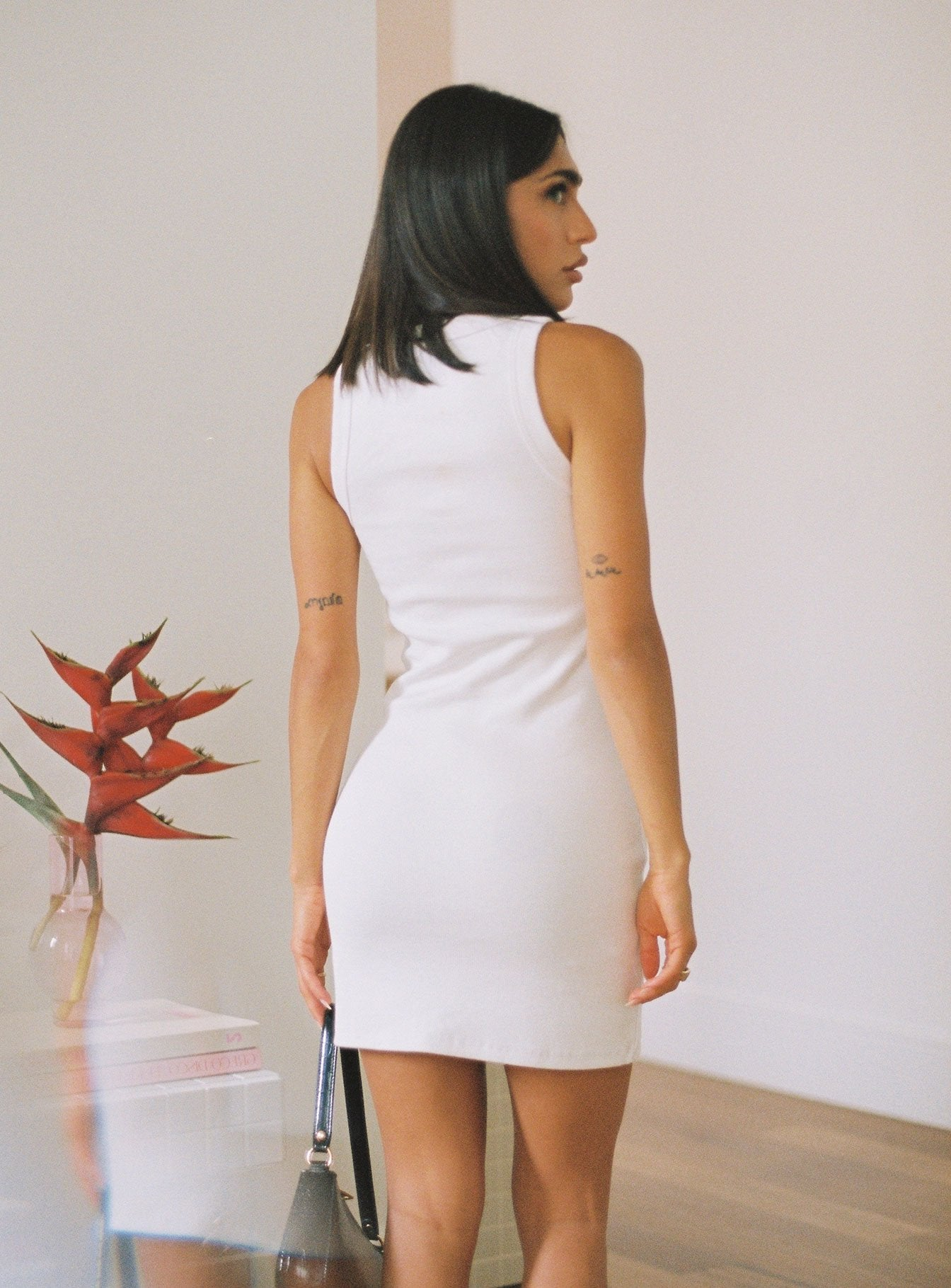 The Classic Tank Dress White - Organically Grown Cotton
