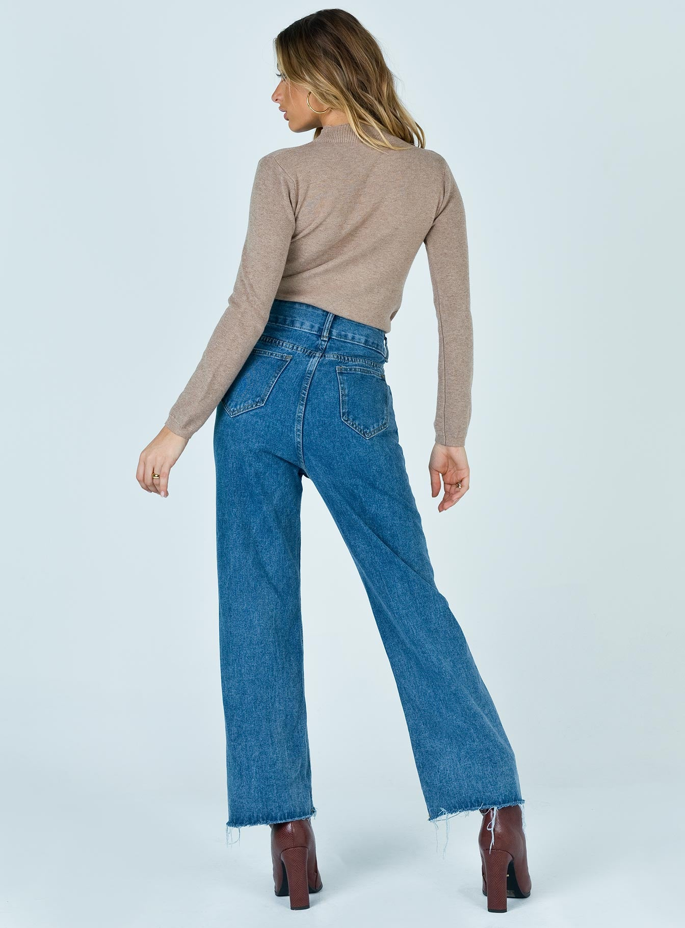 Hudson Wide Leg Jeans Dark Denim