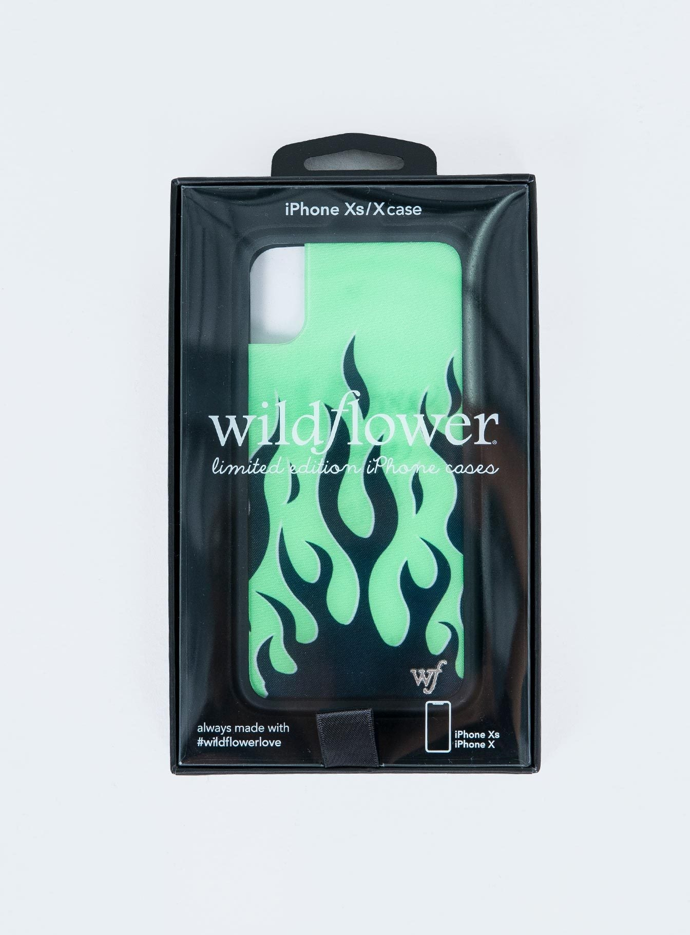 Wildflower Neon Flames iPhone X/XS Case