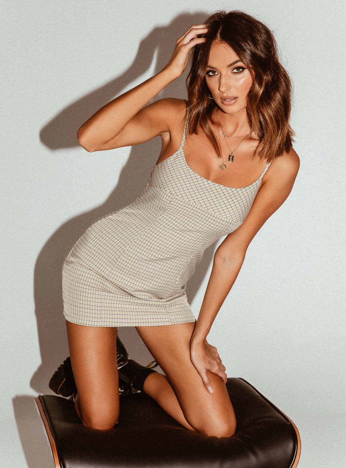 Alaysiah Mini Dress Tan
