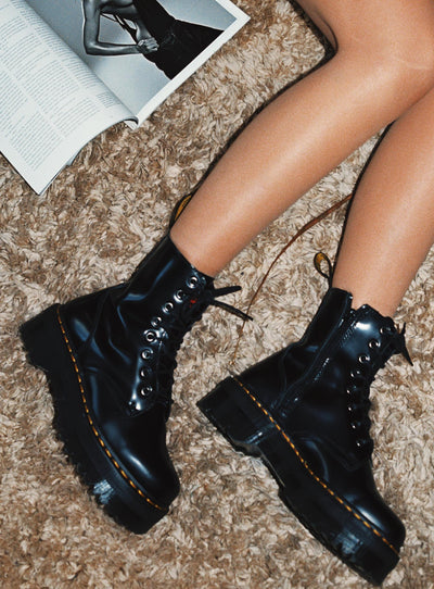 Dr. Martens Jadon Boots Black Polished
