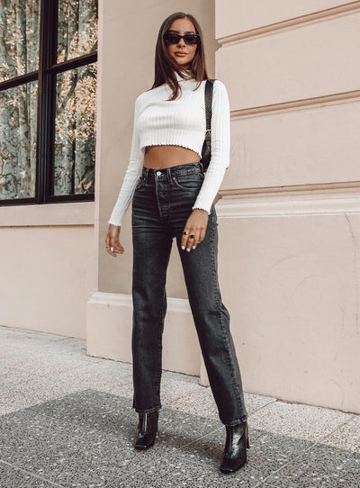 Levi's Ribcage Straight Ankle Jeans Feelin' Cagey